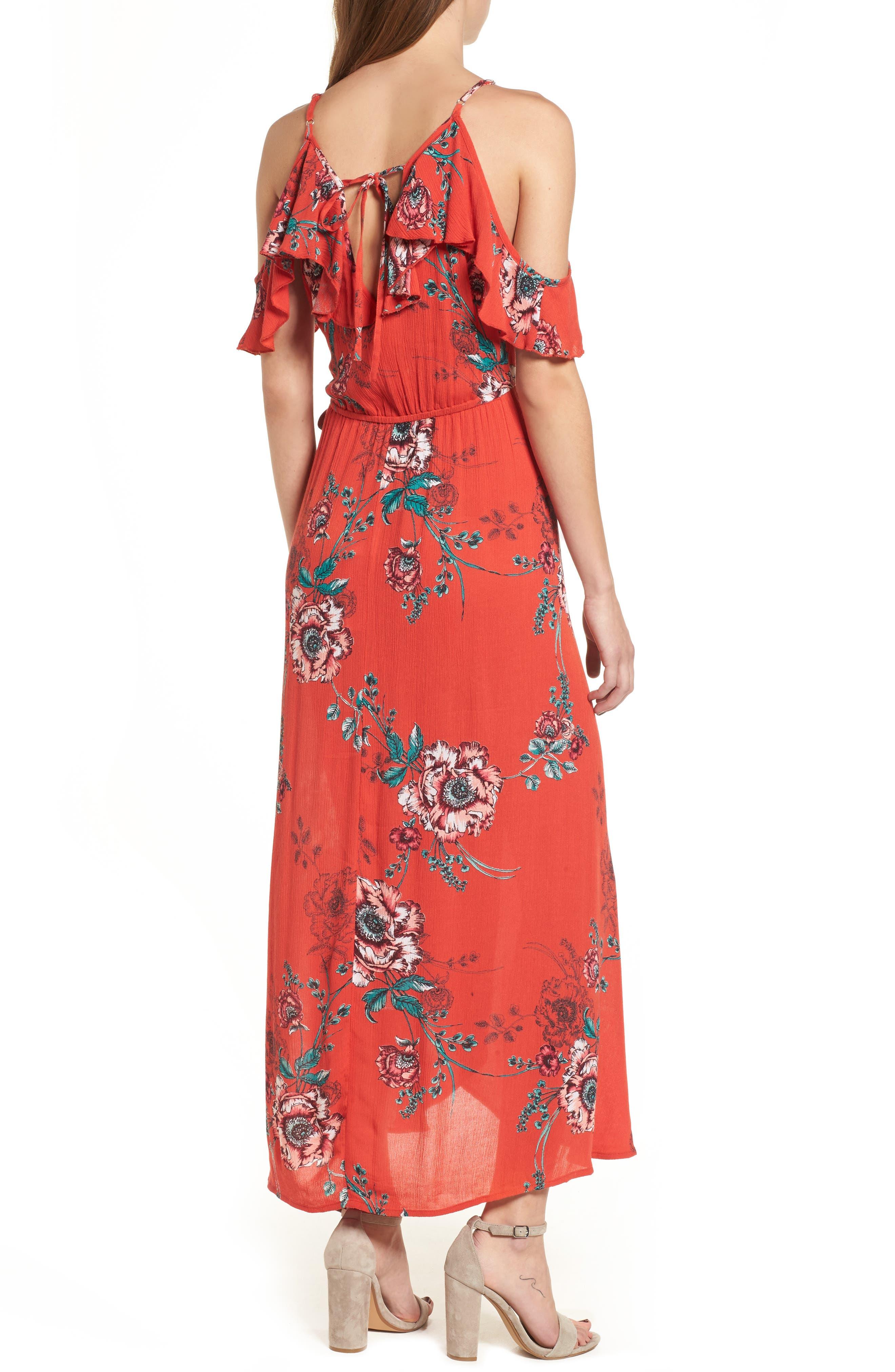 Foulard Cold Shoulder Dress,                             Alternate thumbnail 2, color,                             600
