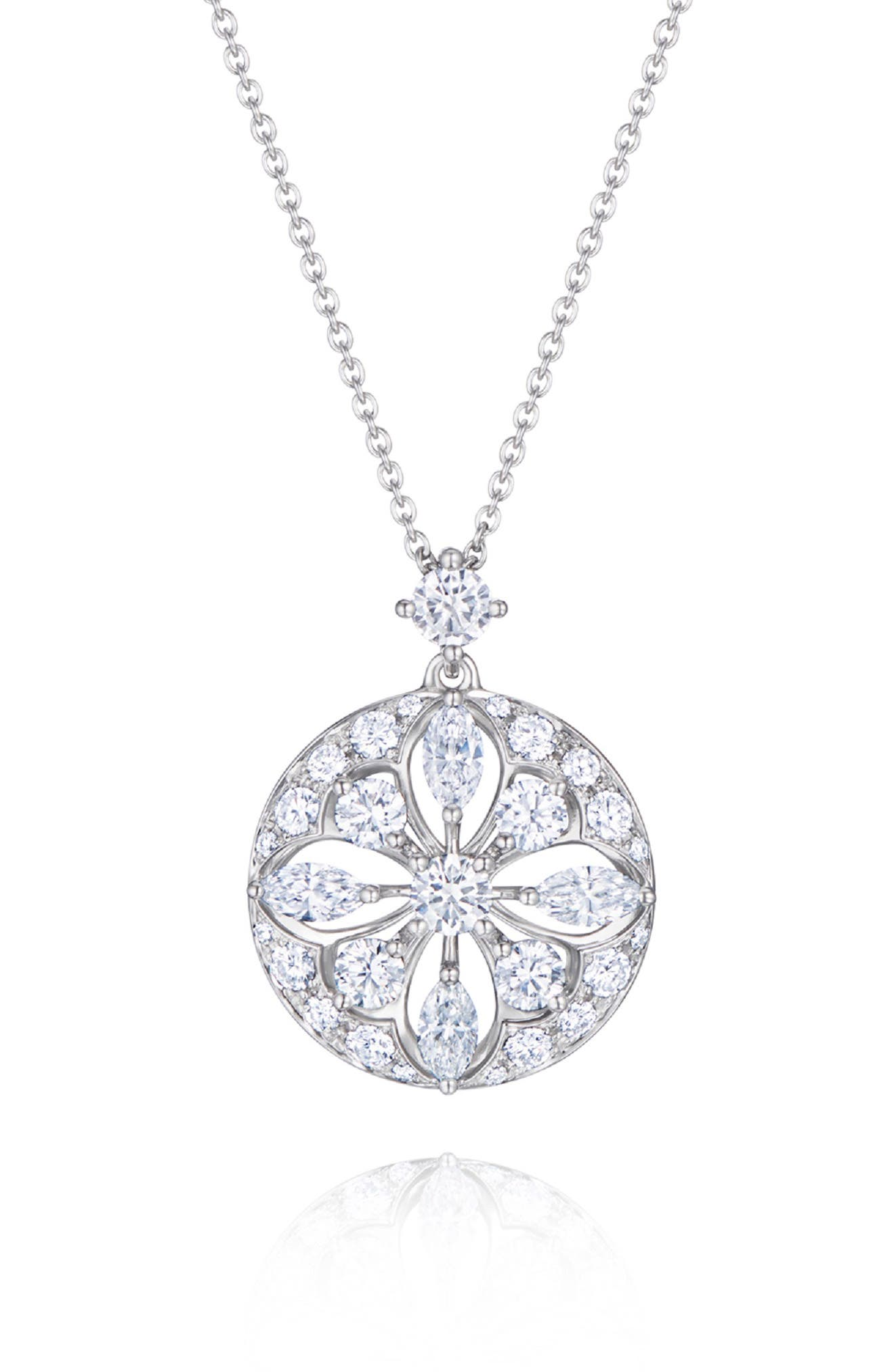 KWIAT Star Pendant Necklace in White Gold