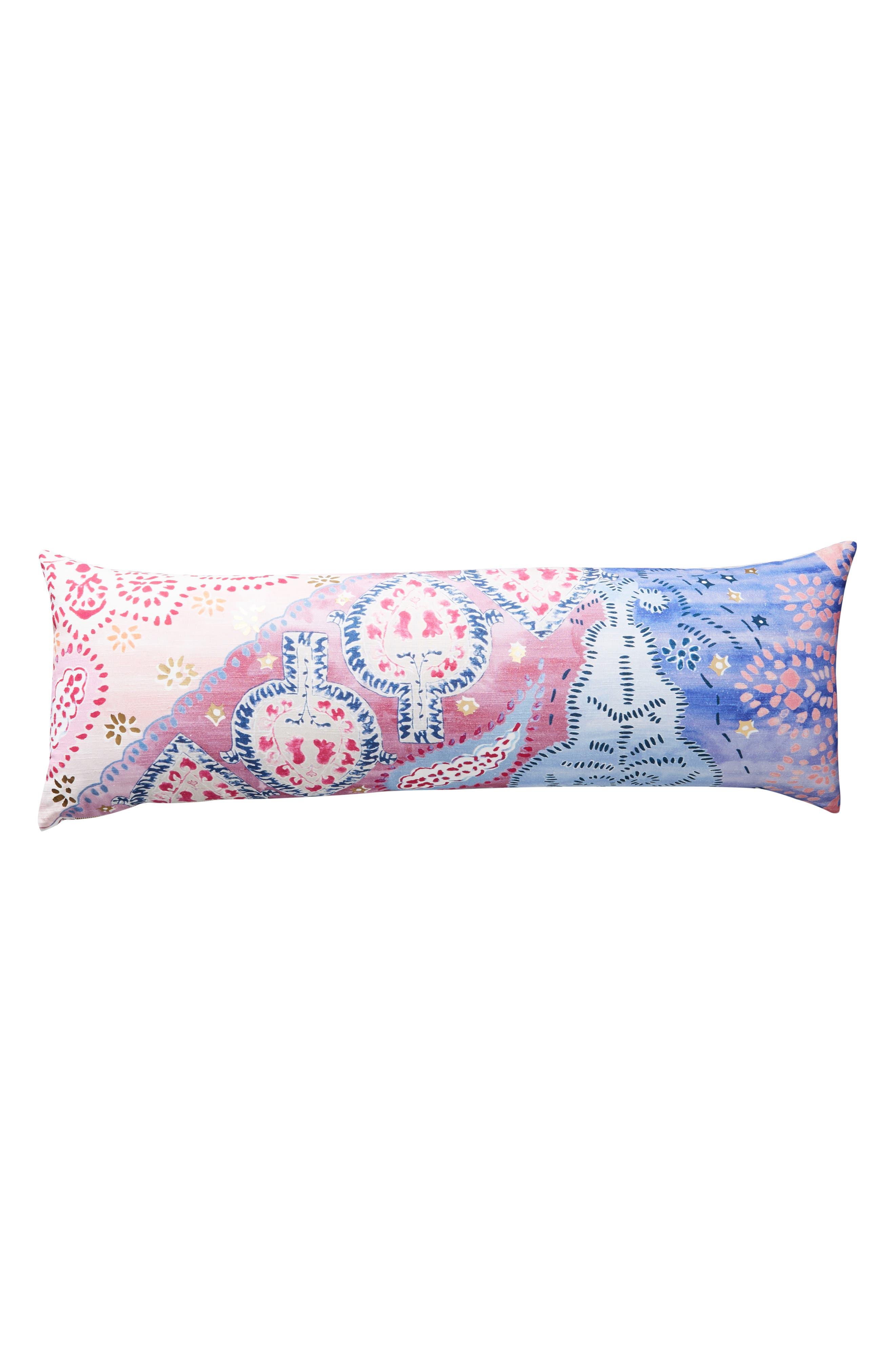 Piper Lumbar Pillow,                             Alternate thumbnail 4, color,                             PERIWINKLE