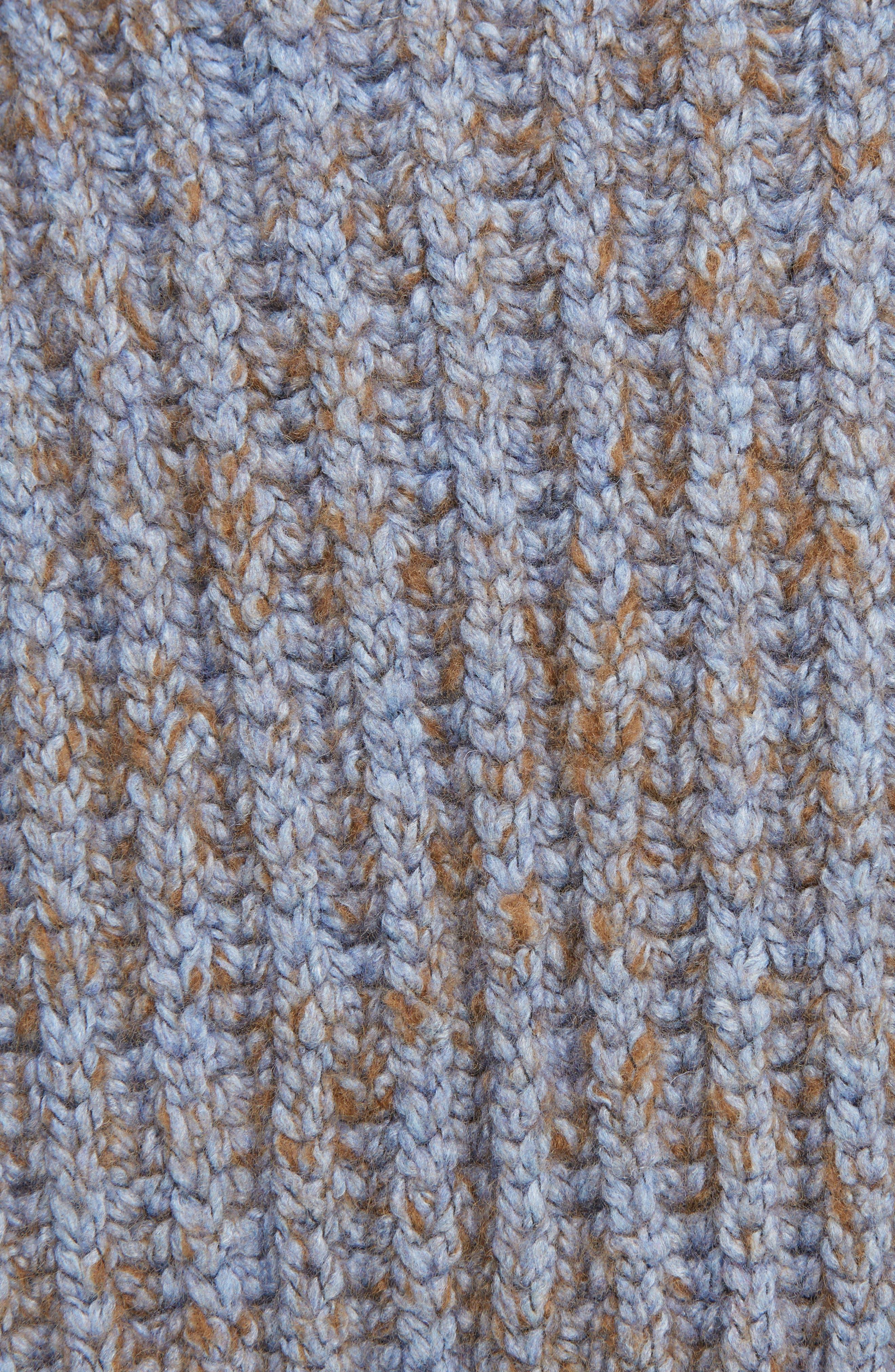 Sandy Mouline Cable Knit Sweater,                             Alternate thumbnail 5, color,                             400