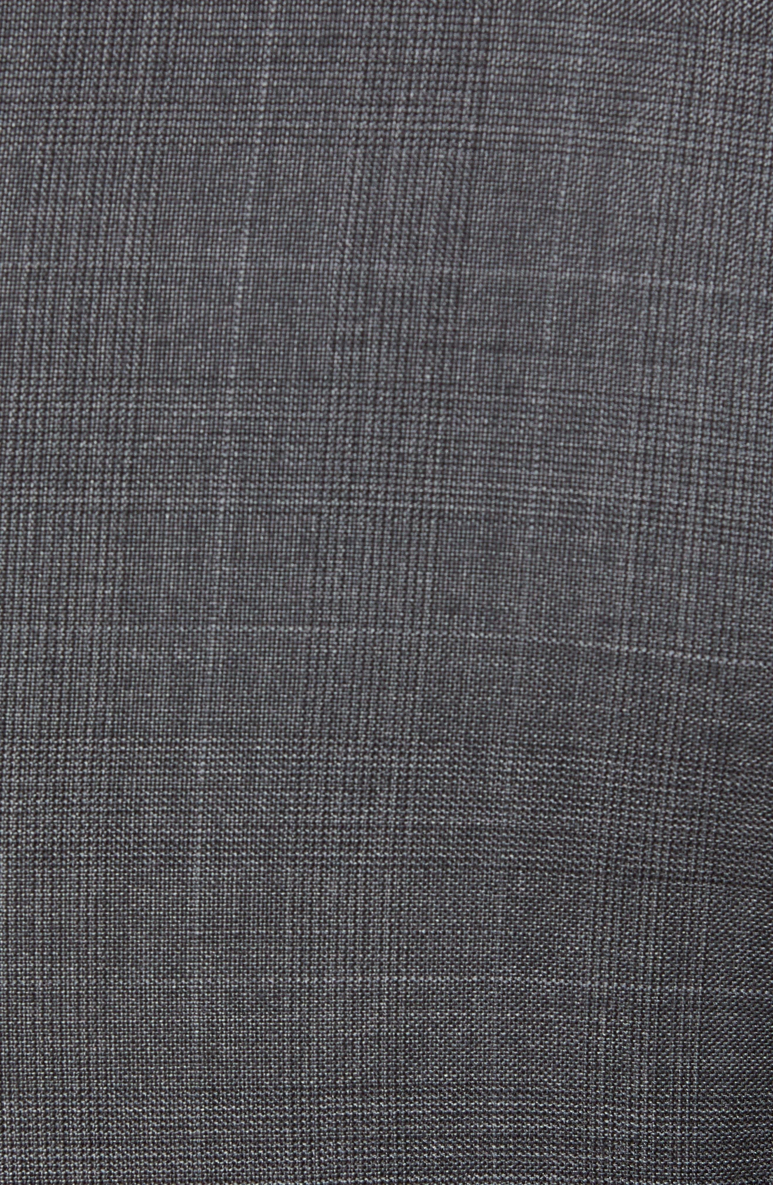 Trim Fit Plaid Wool Suit,                             Alternate thumbnail 7, color,                             010