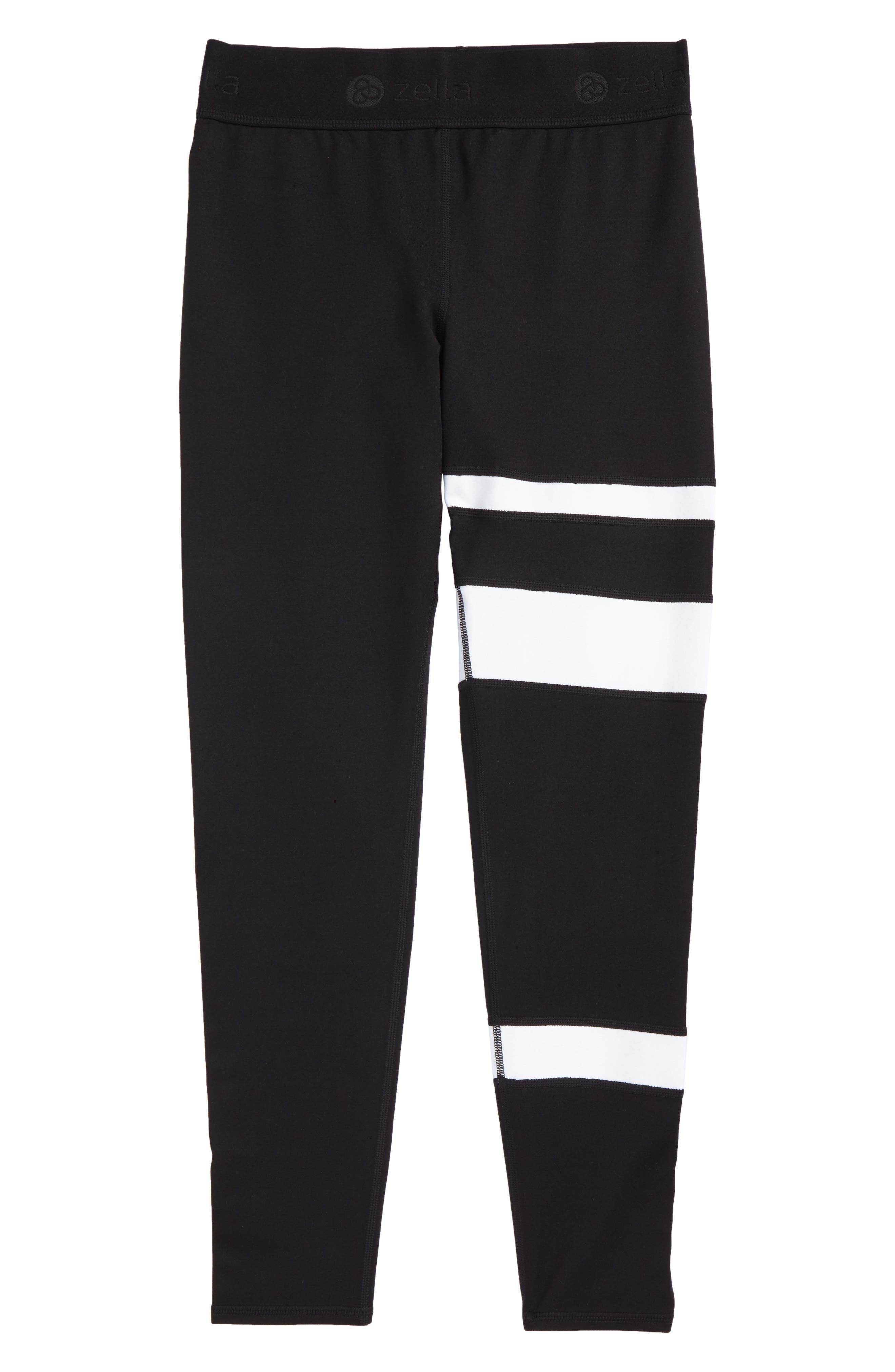 Zella Stripe Leggings,                         Main,                         color, 001