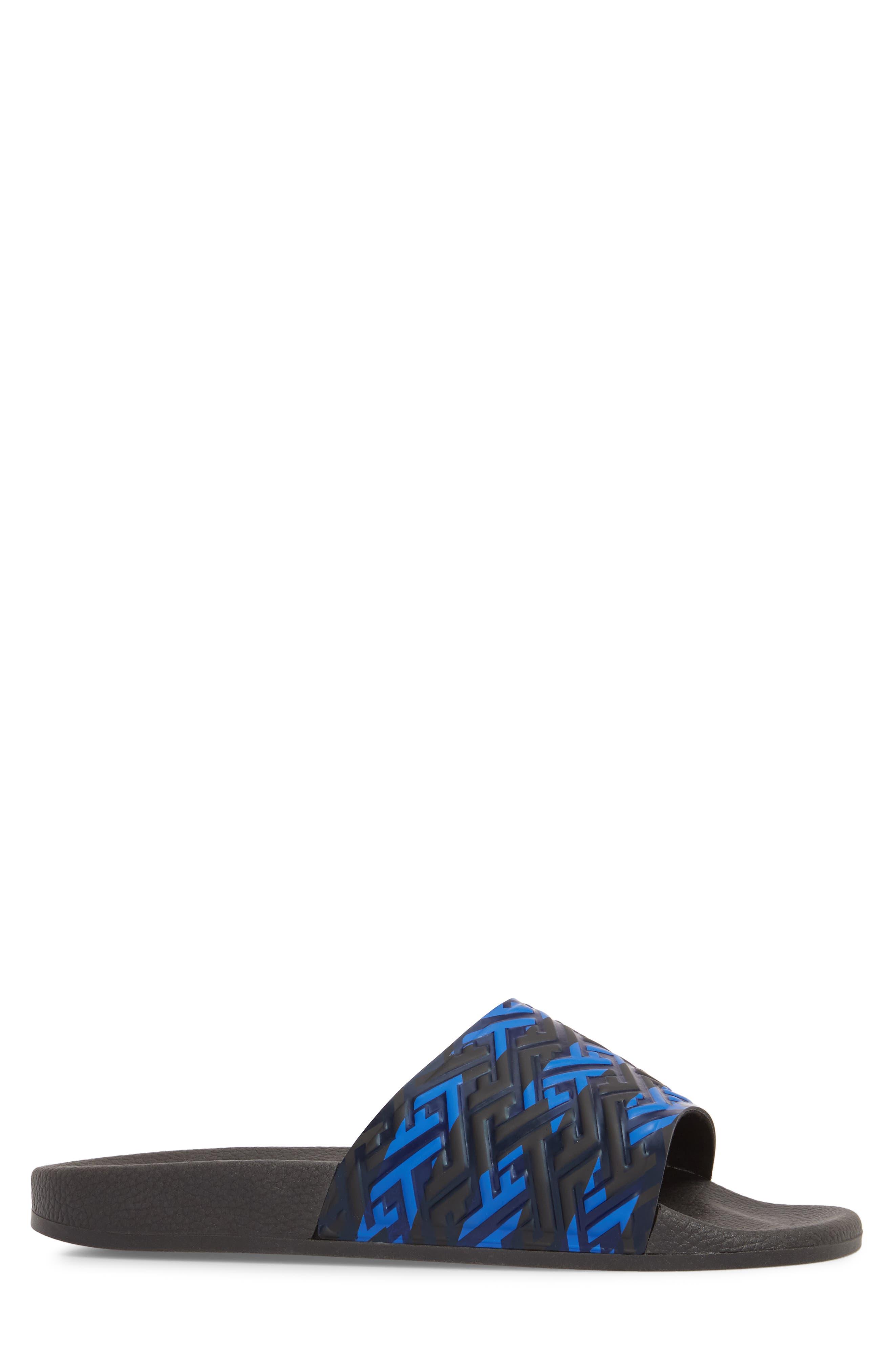Patterned Sport Slide,                             Alternate thumbnail 3, color,                             BLUE