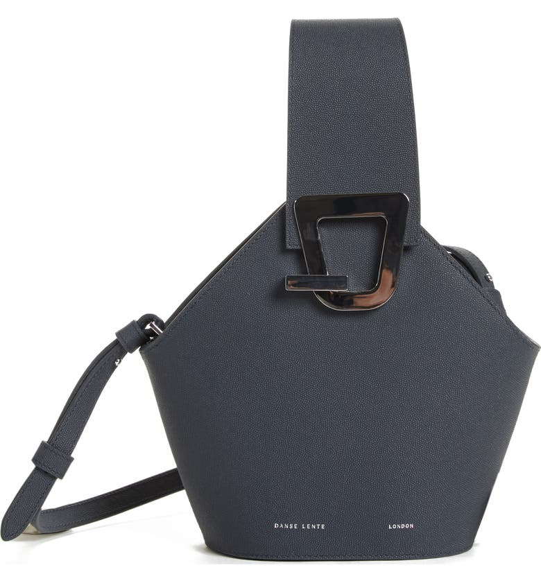 e76134530ddda Danse Lente Mini Johnny Leather Bucket Bag - Blue In Marine