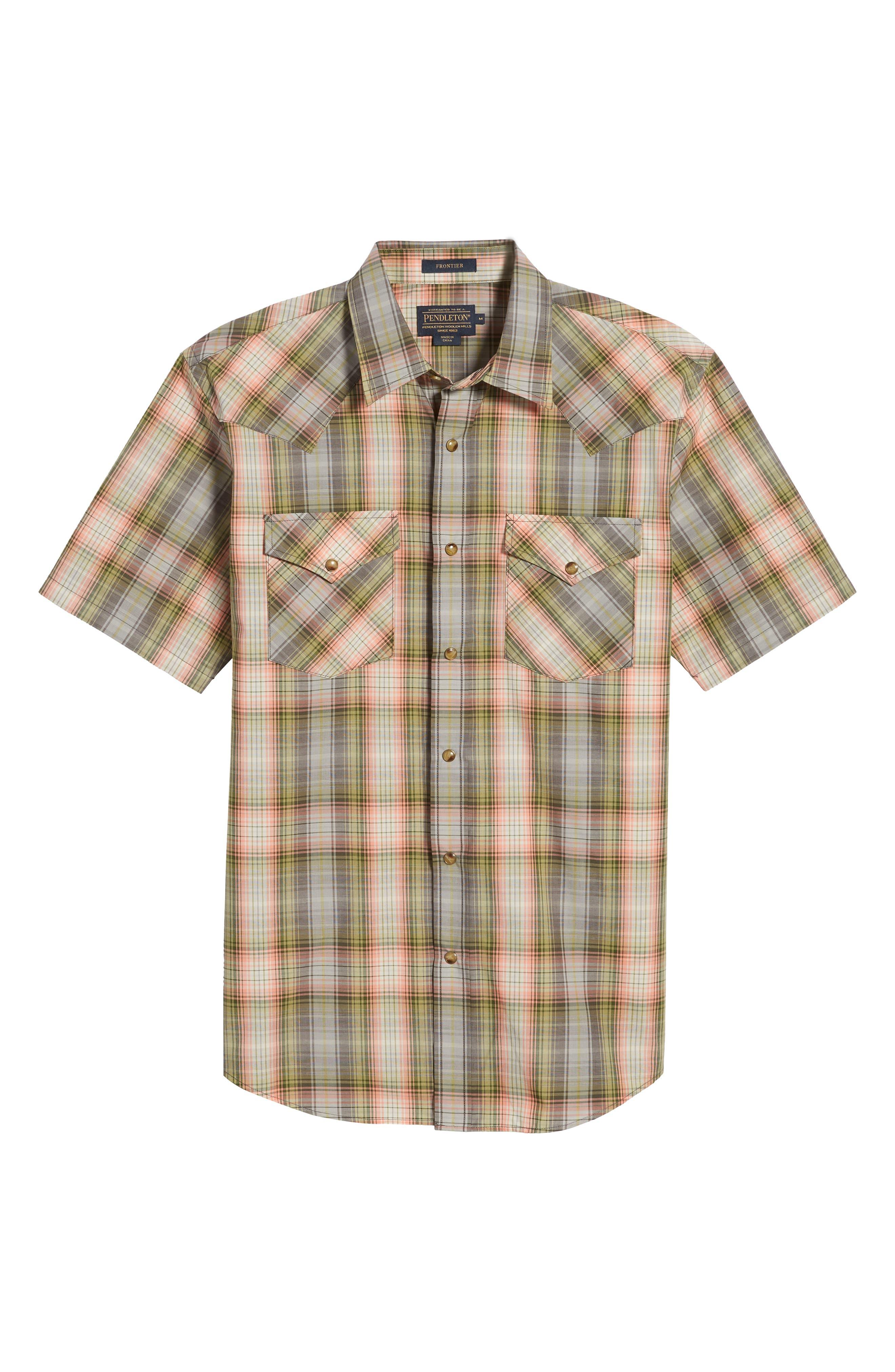 Frontier Regular Fit Plaid Short Sleeve Sport Shirt,                             Alternate thumbnail 11, color,