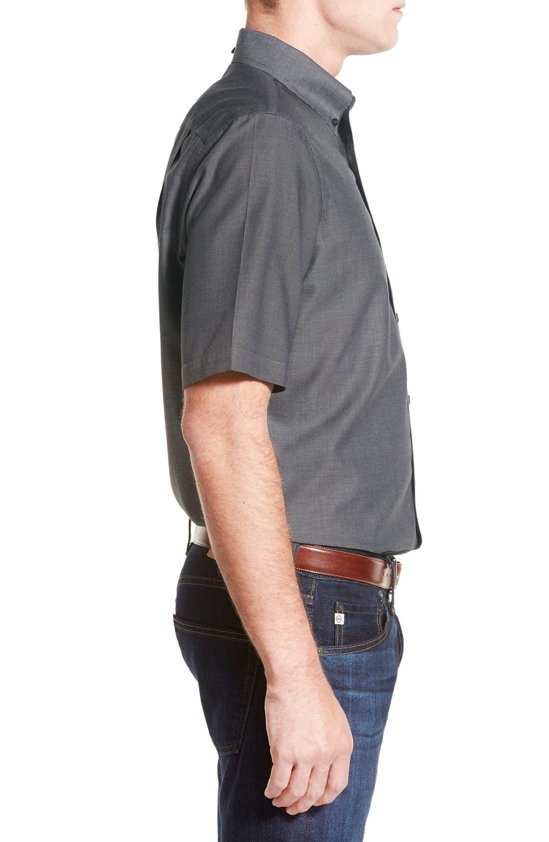 'Classic' Smartcare<sup>™</sup> Regular Fit Short Sleeve Cotton Sport Shirt,                             Alternate thumbnail 26, color,