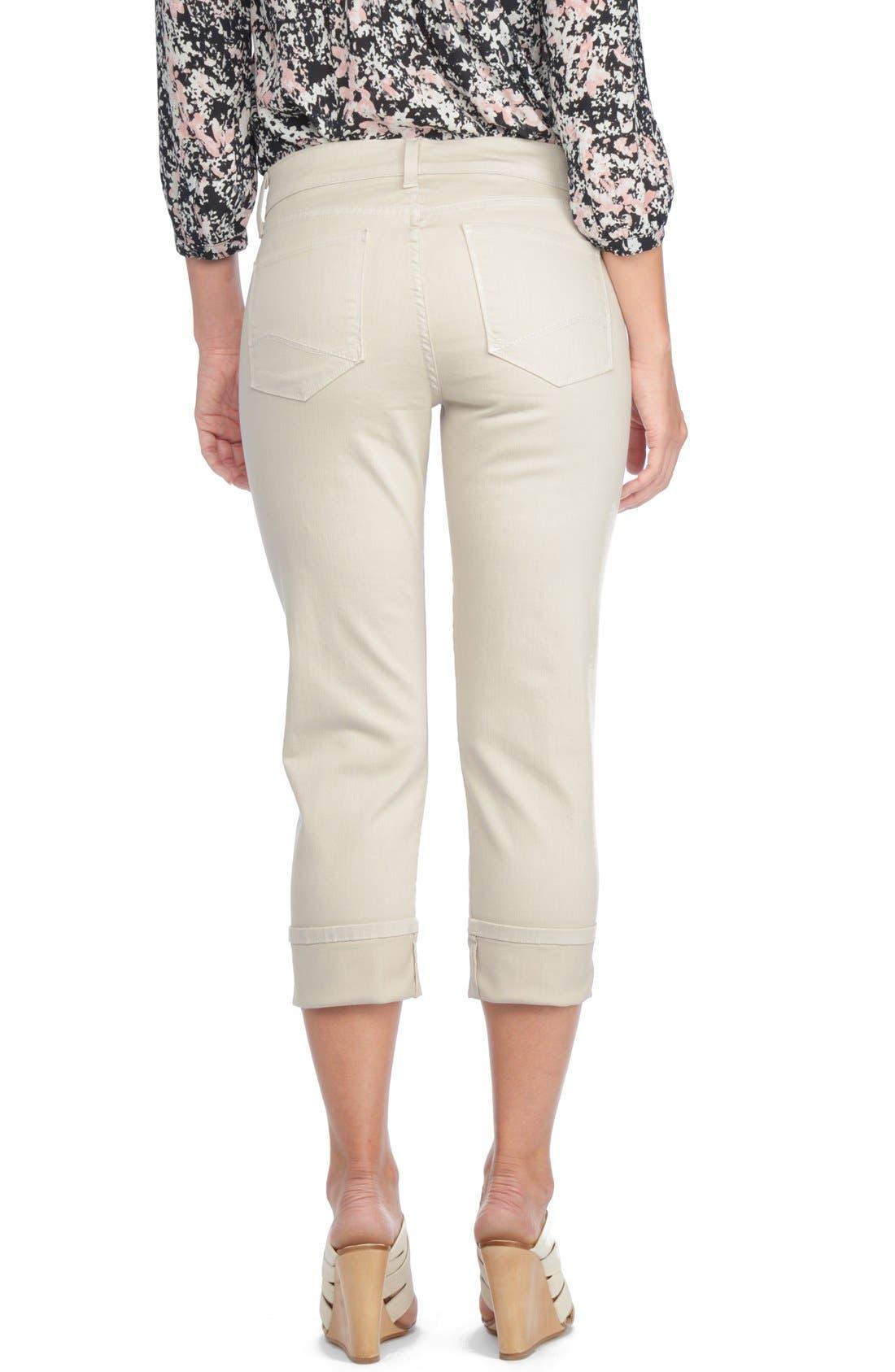 'Dayla' Colored Wide Cuff Capri Jeans,                             Alternate thumbnail 32, color,