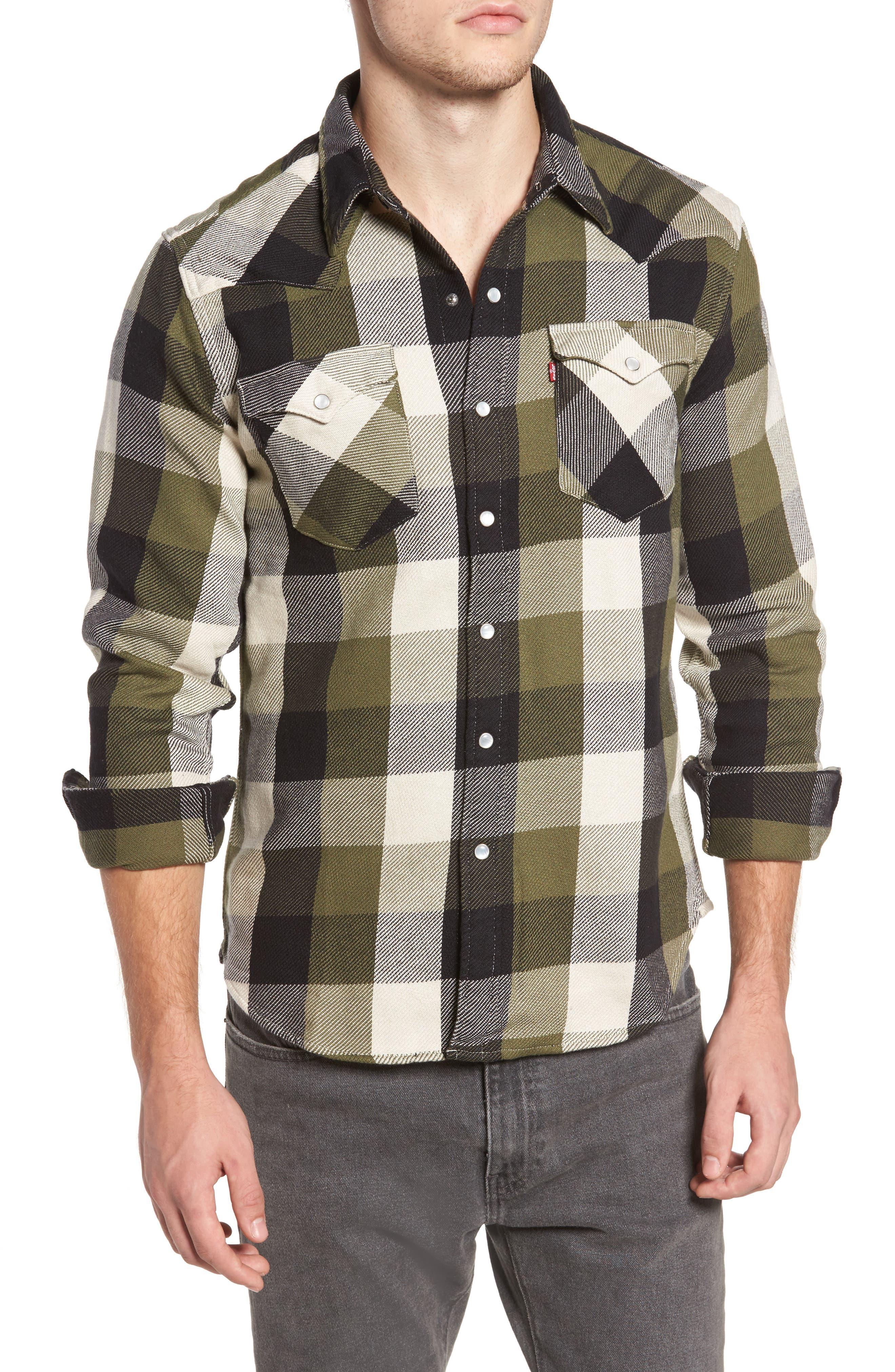 'Barstow' Denim Western Shirt,                             Main thumbnail 1, color,