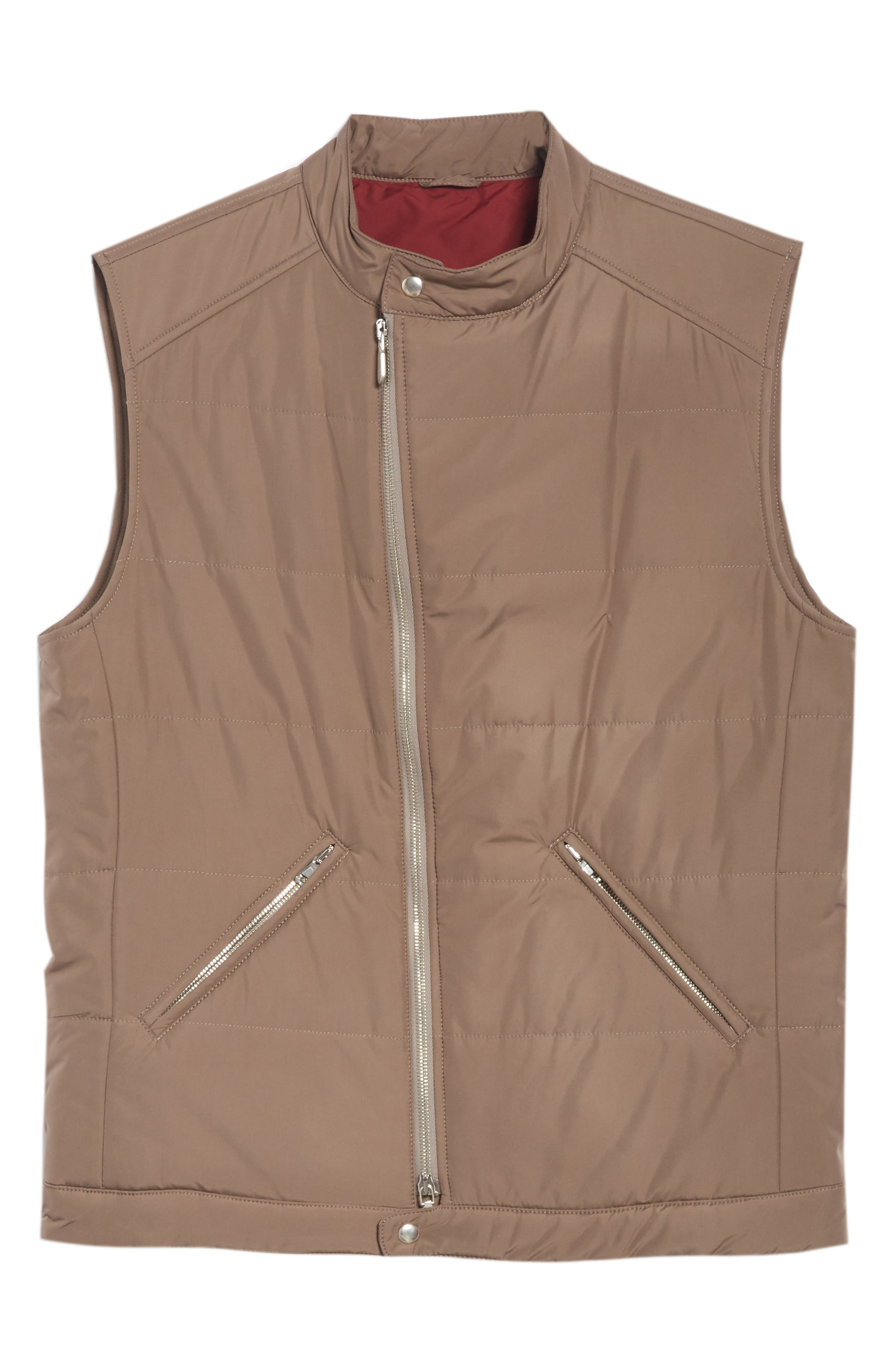 Quilted Vest,                             Alternate thumbnail 5, color,                             TAUPE