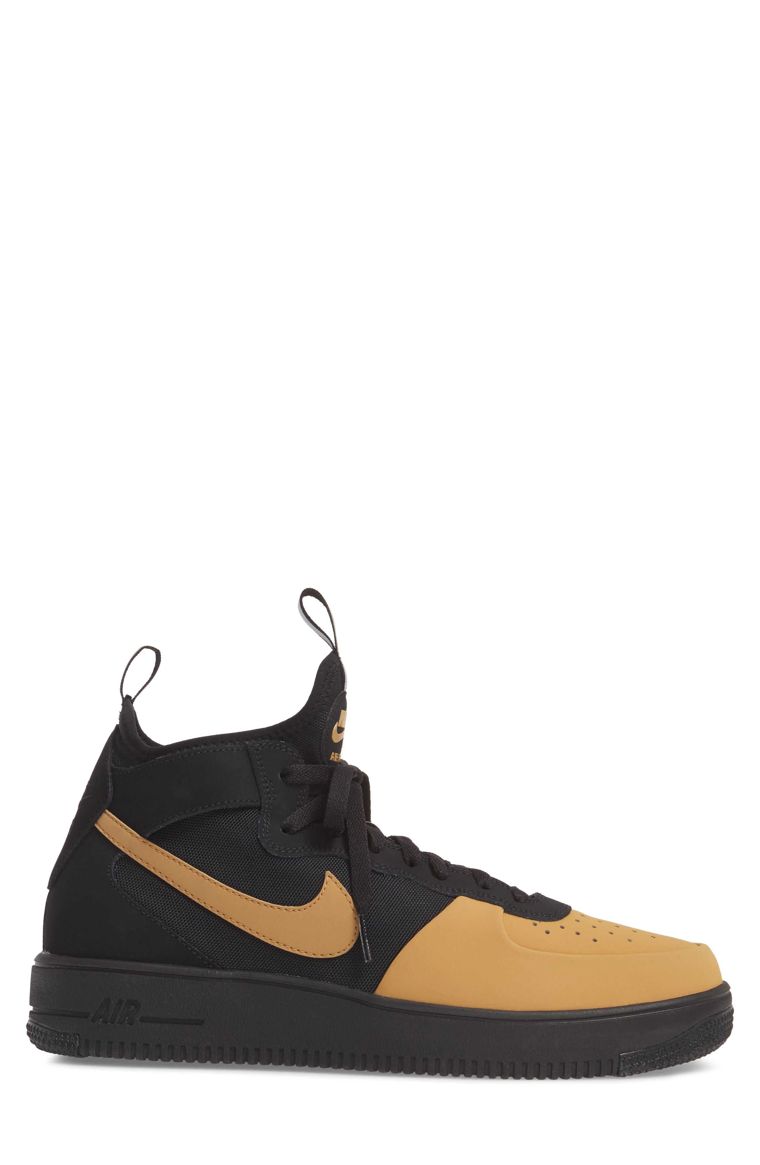 Air Force 1 Ultraforce Mid Tech Sneaker,                             Alternate thumbnail 3, color,                             002