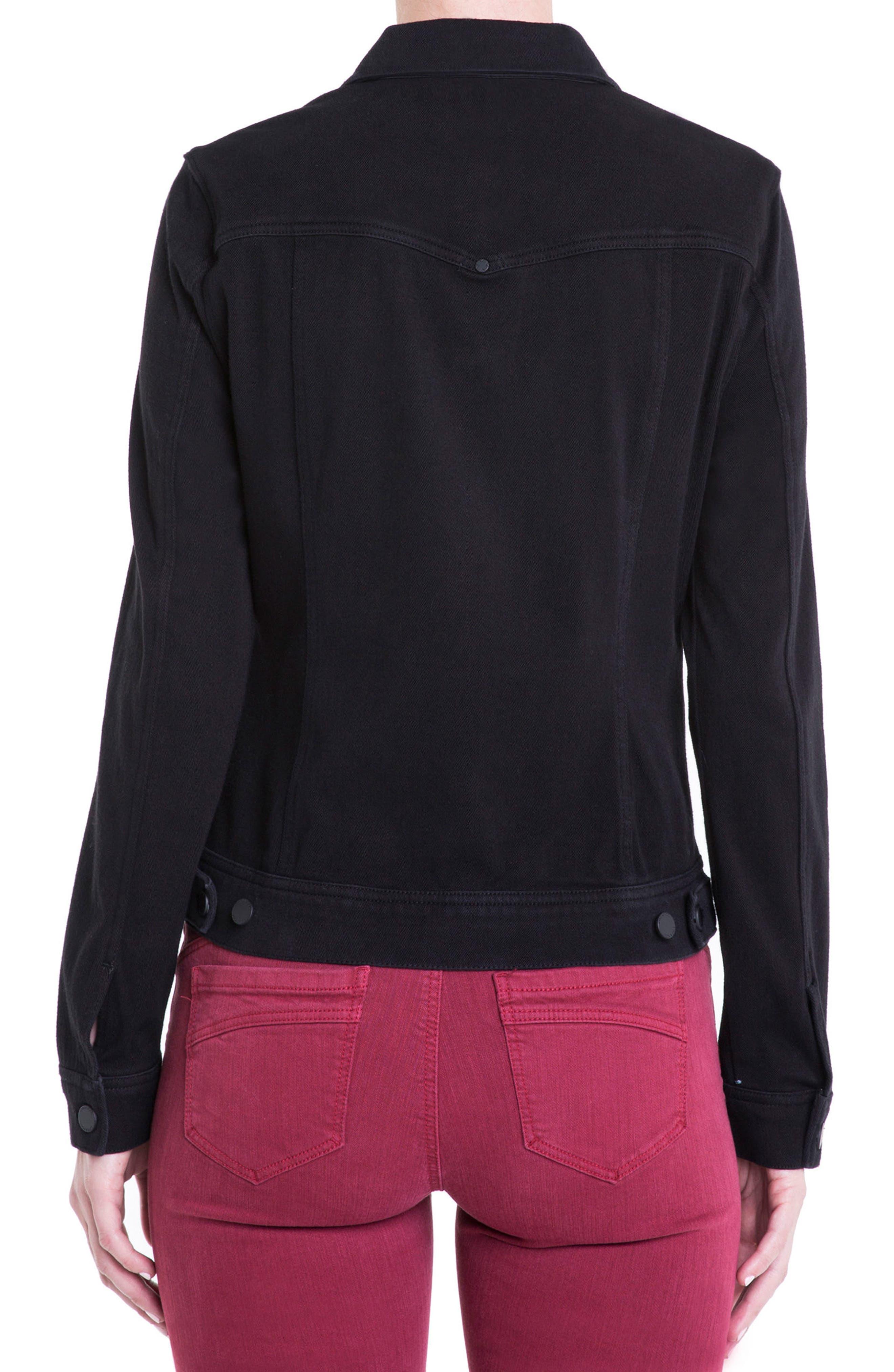Jeans Co. Knit Denim Jacket,                             Alternate thumbnail 2, color,                             001