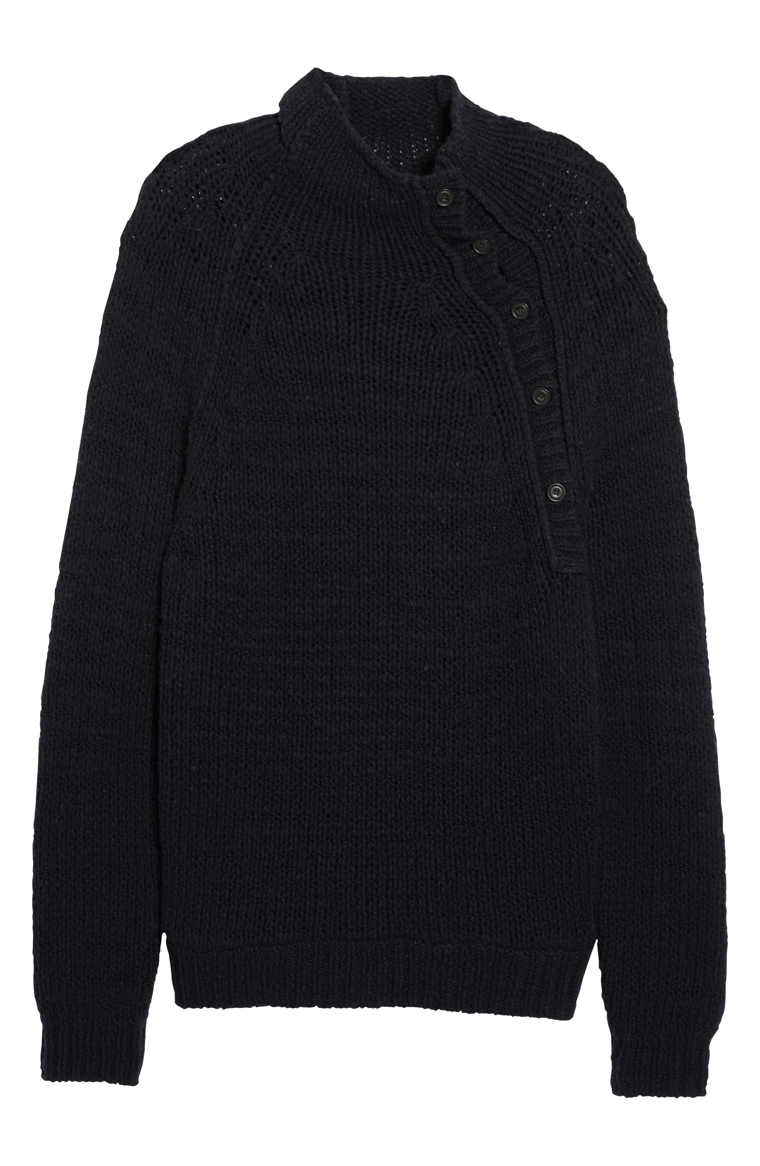Side Button Mock Neck Sweater,                             Alternate thumbnail 6, color,                             403