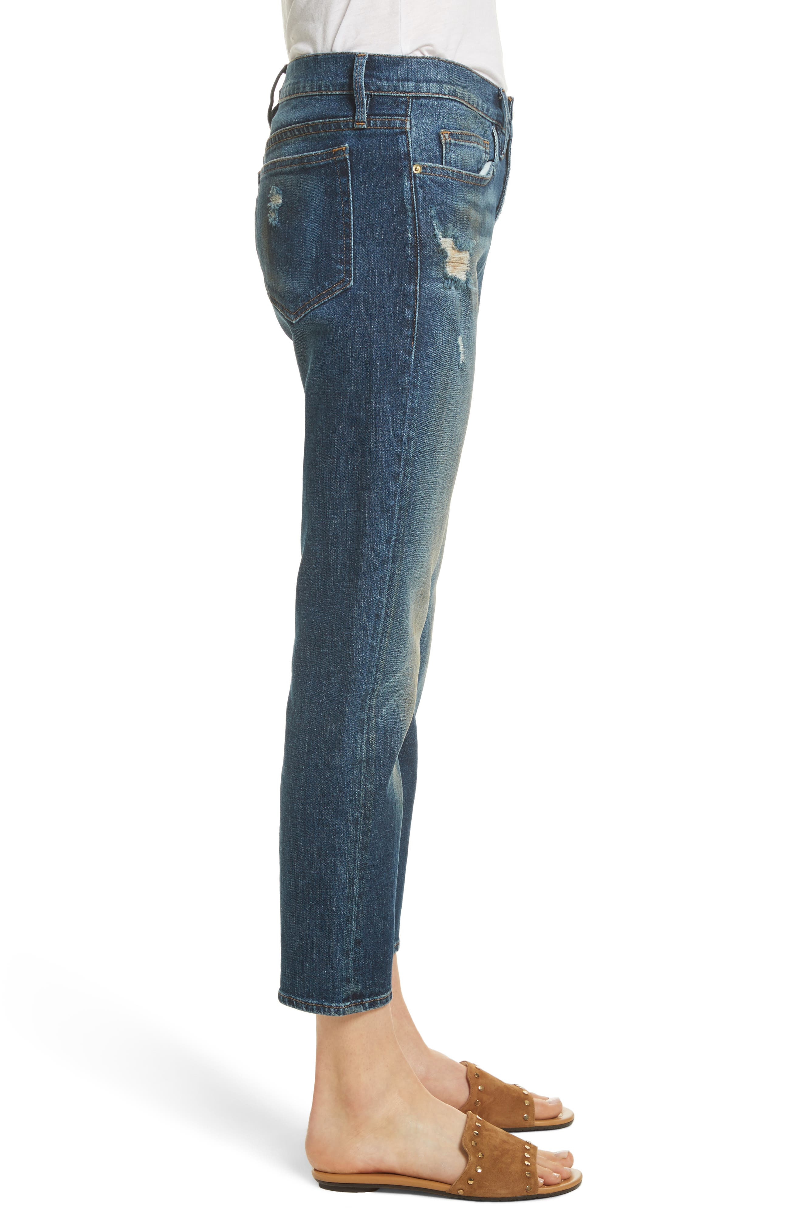 Straight Leg Jeans,                             Alternate thumbnail 3, color,