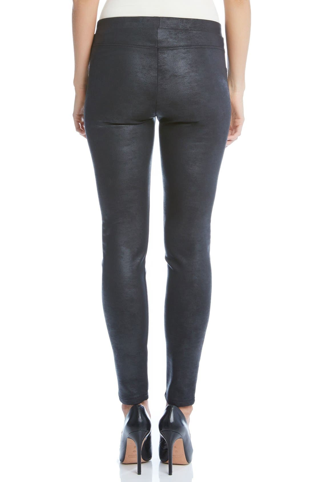 Stretch Faux Leather Skinny Pants,                             Alternate thumbnail 2, color,                             001