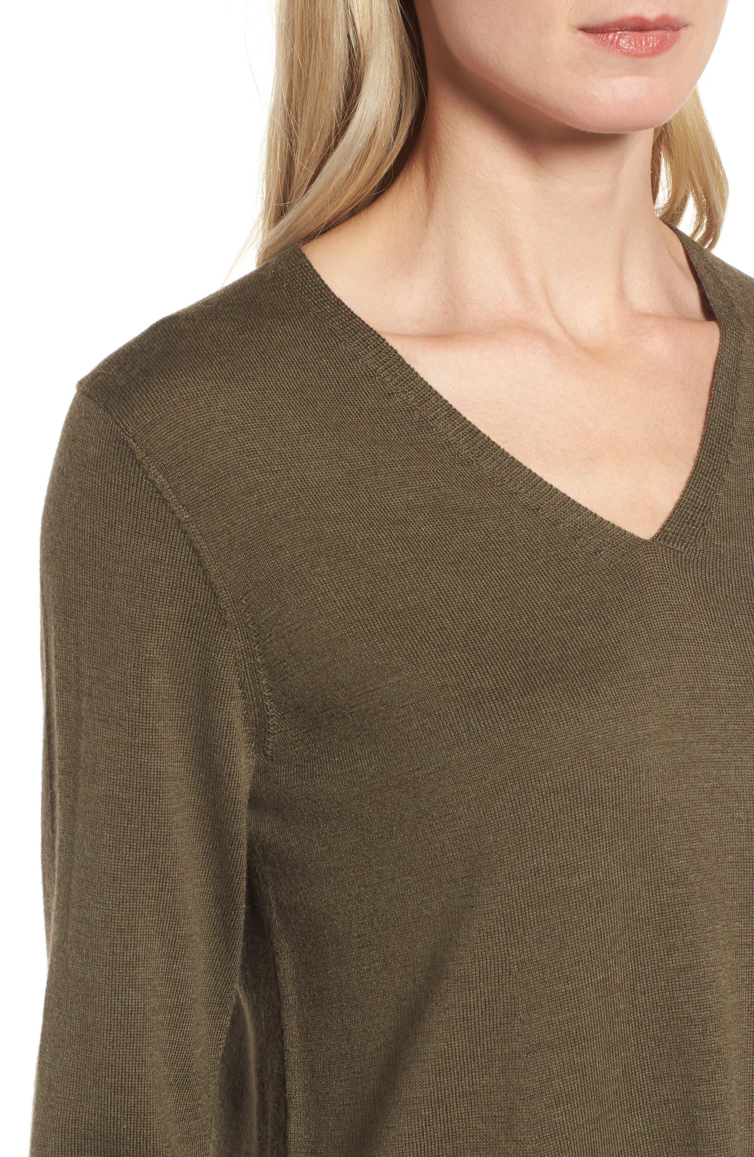 Lightweight Merino Jersey V-Neck Tunic,                             Alternate thumbnail 73, color,