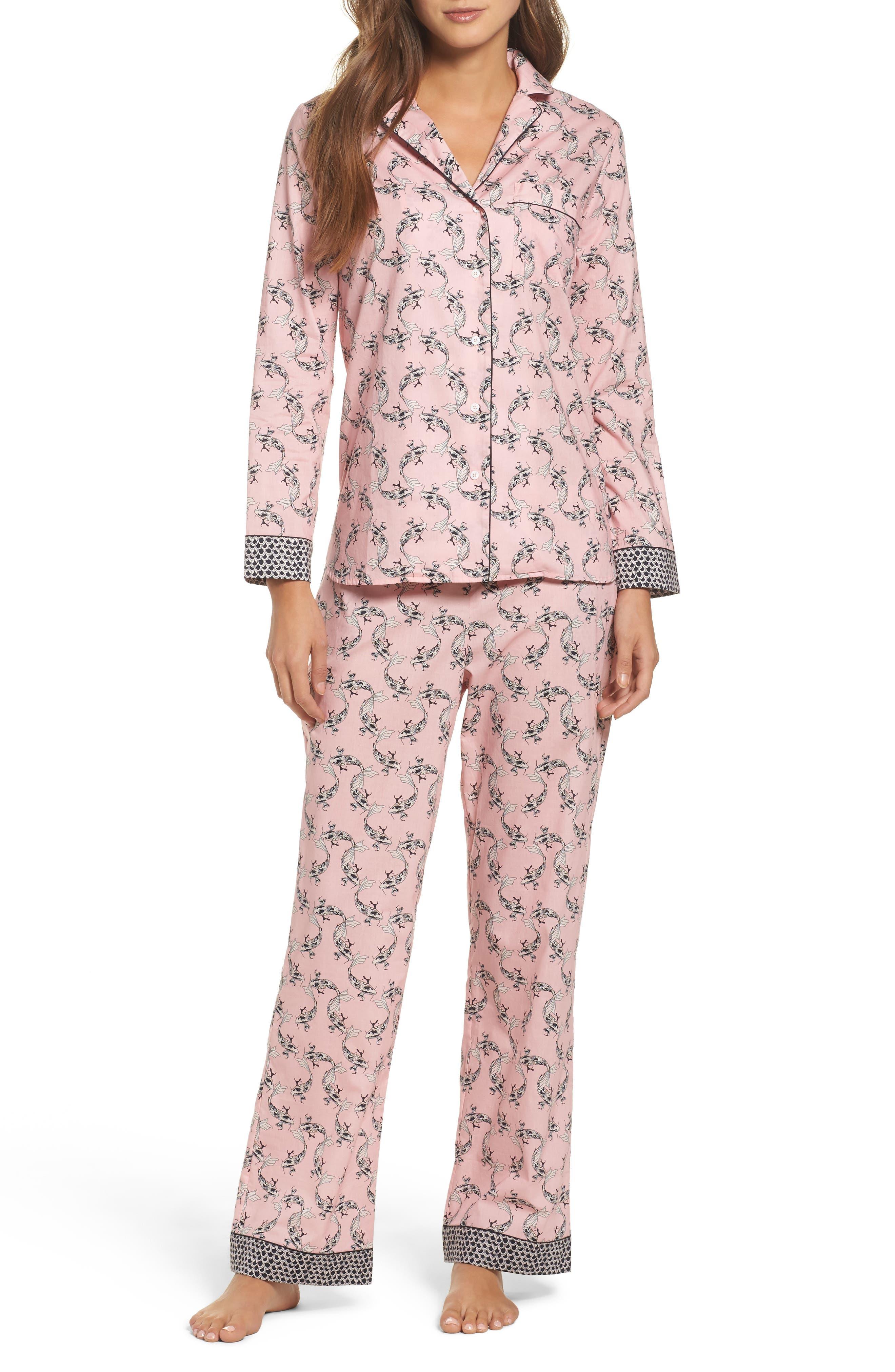 Classic Print Cotton Poplin Pajamas,                             Alternate thumbnail 5, color,                             950