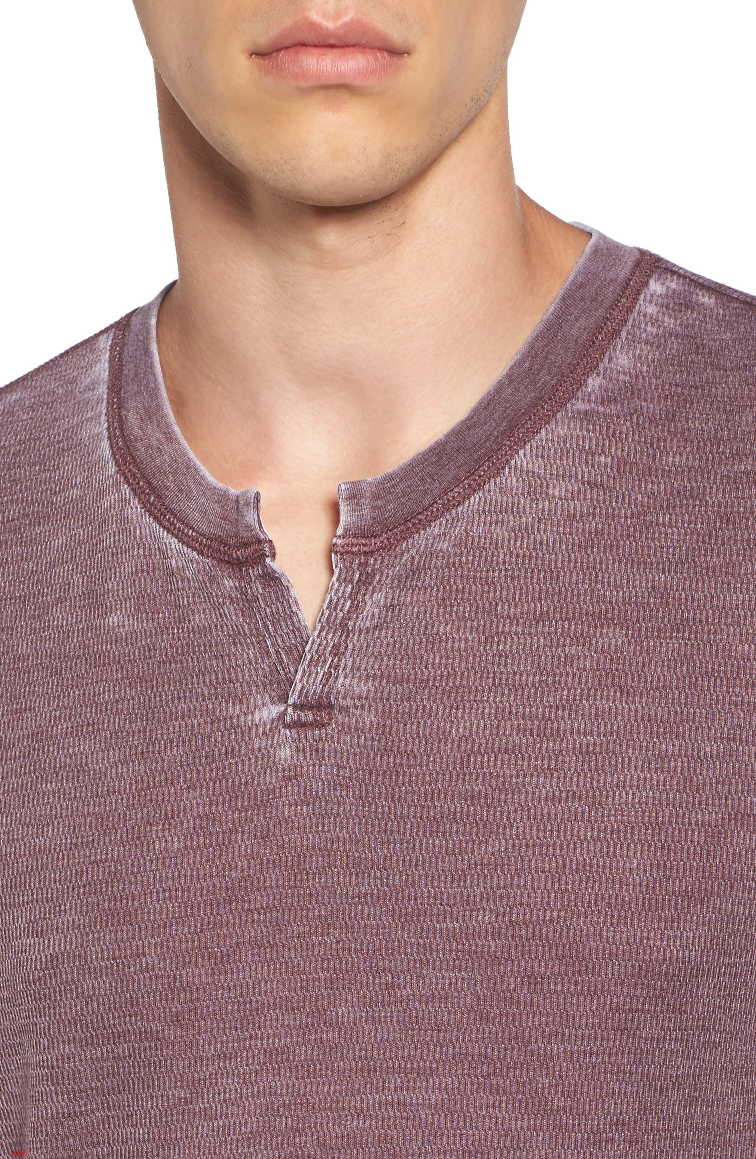 Notch Neck Thermal T-Shirt,                             Alternate thumbnail 28, color,