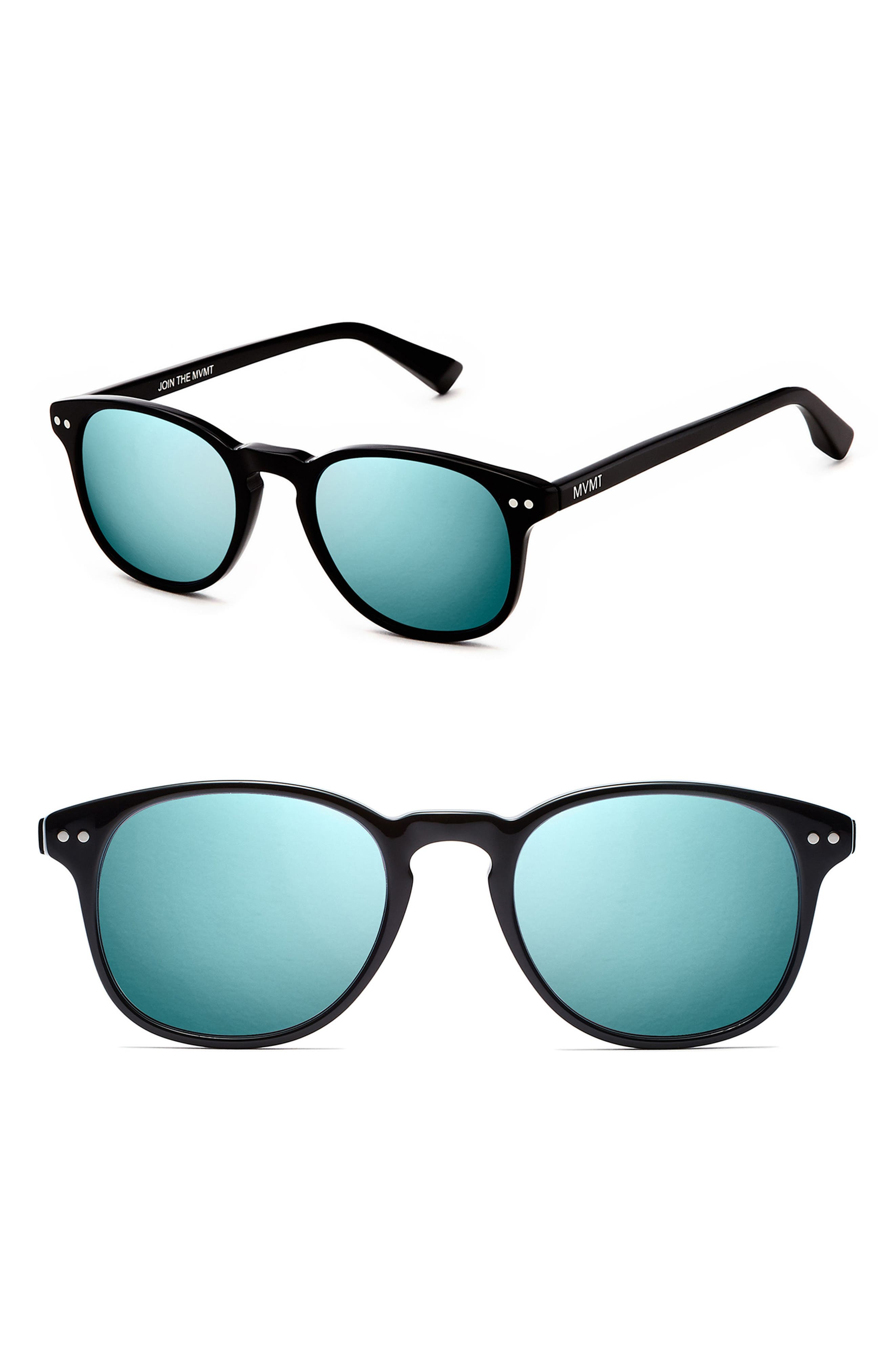 Hyde 50mm Round Suglasses,                         Main,                         color, BLACK CRYSTAL