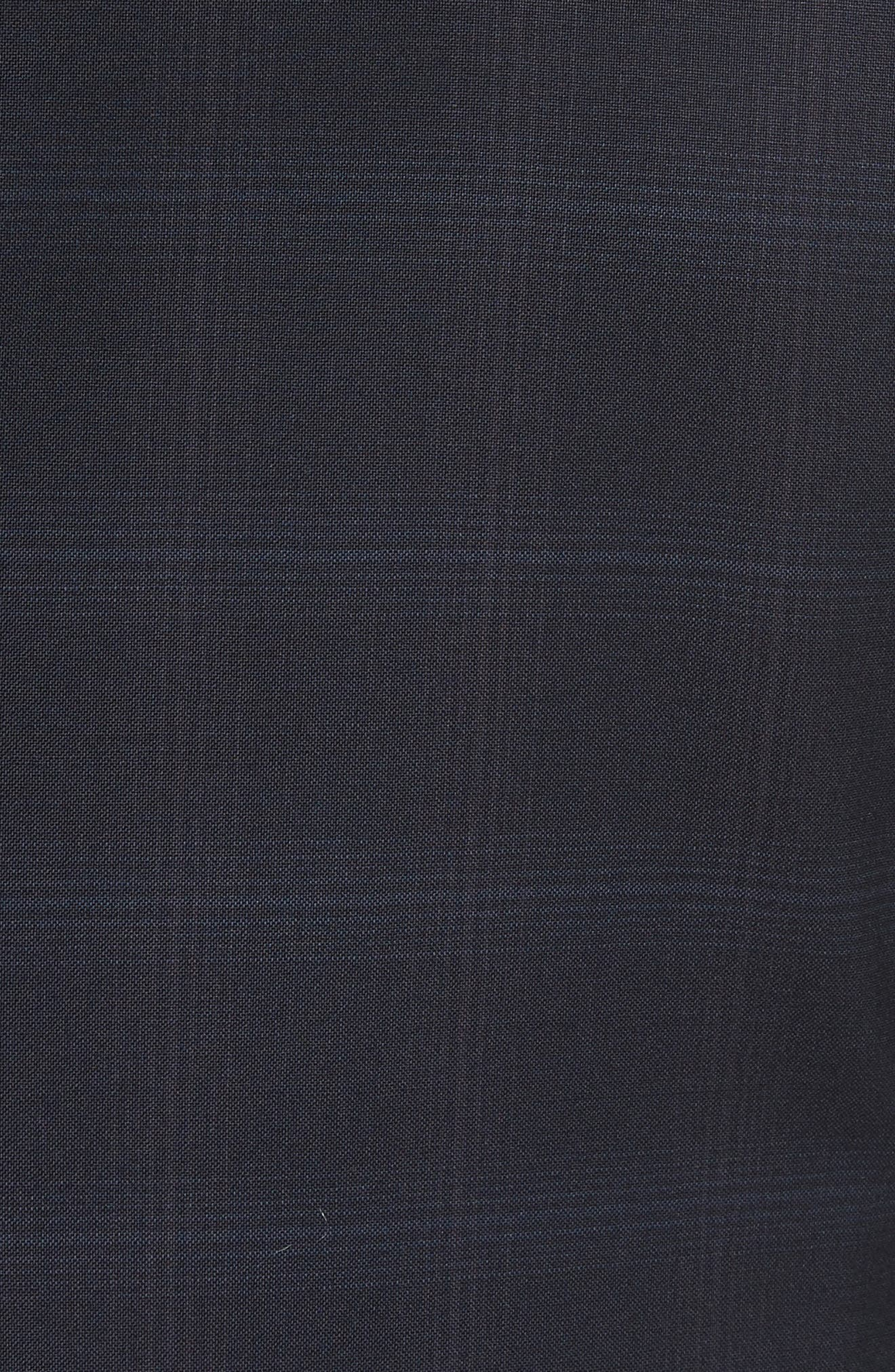 Trim Fit Plaid Wool Suit,                             Alternate thumbnail 7, color,                             465