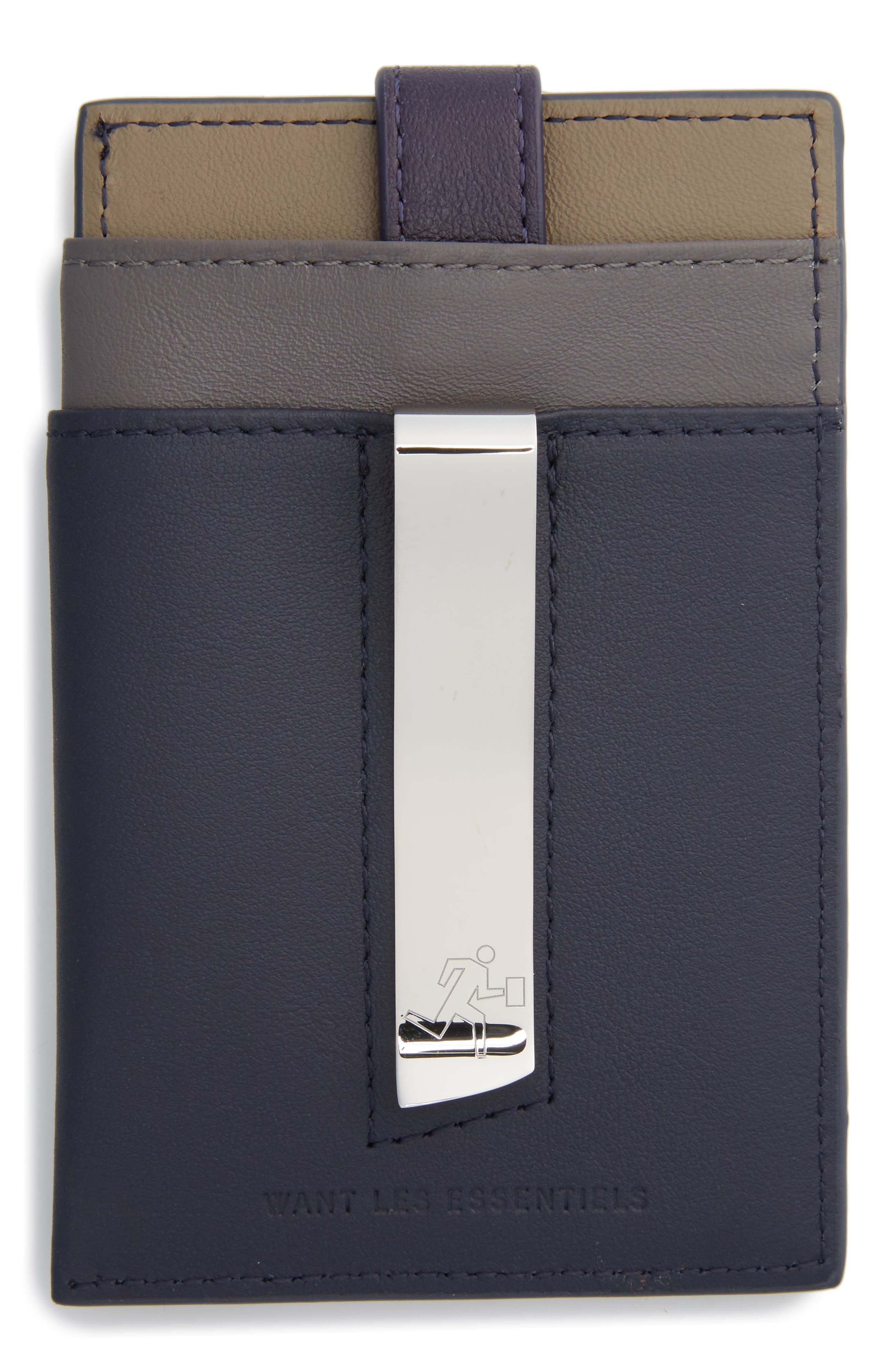 'Kennedy' Leather Money Clip Card Case,                             Alternate thumbnail 7, color,