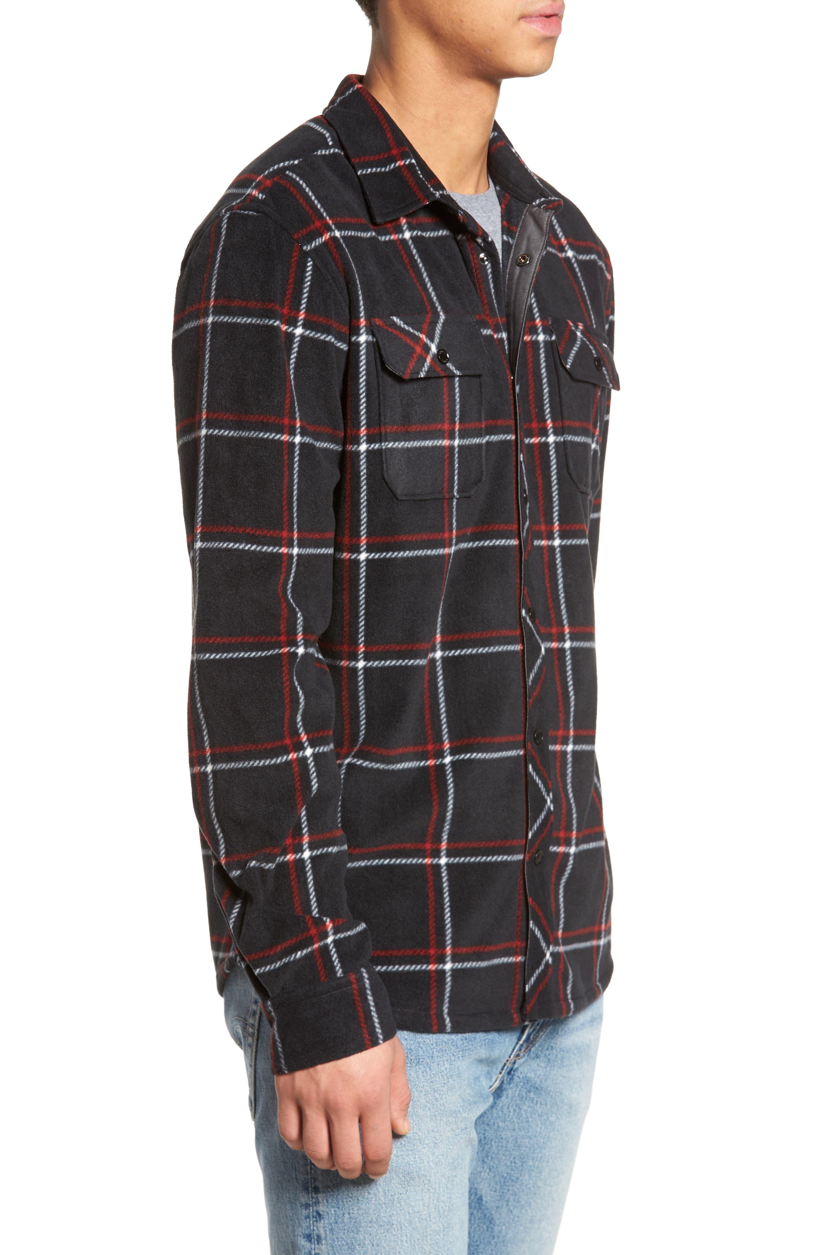 Glacier Series Fleece Shirt,                             Alternate thumbnail 3, color,                             001