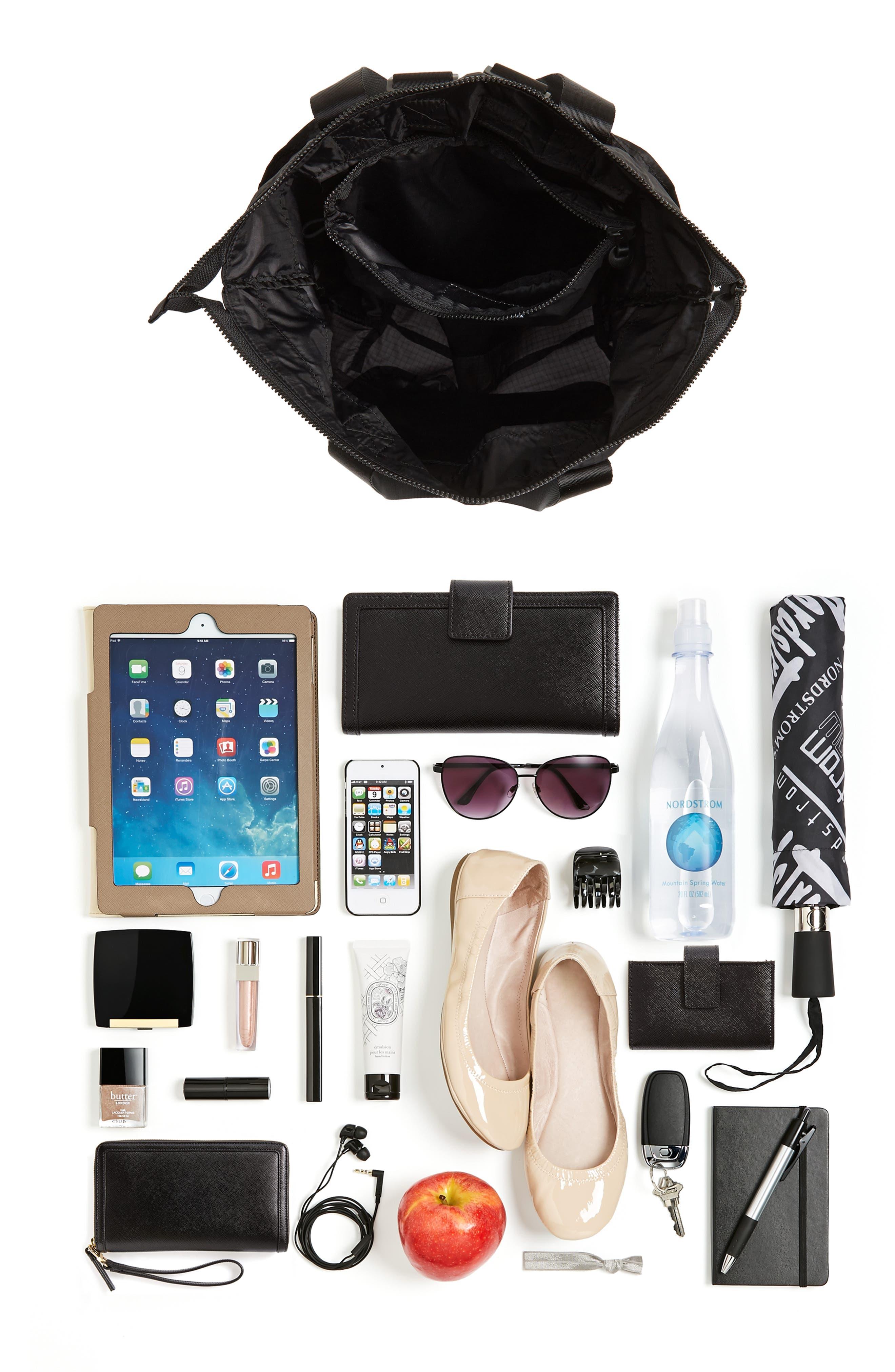 Packable Convertible Backpack,                             Alternate thumbnail 9, color,                             BLACK
