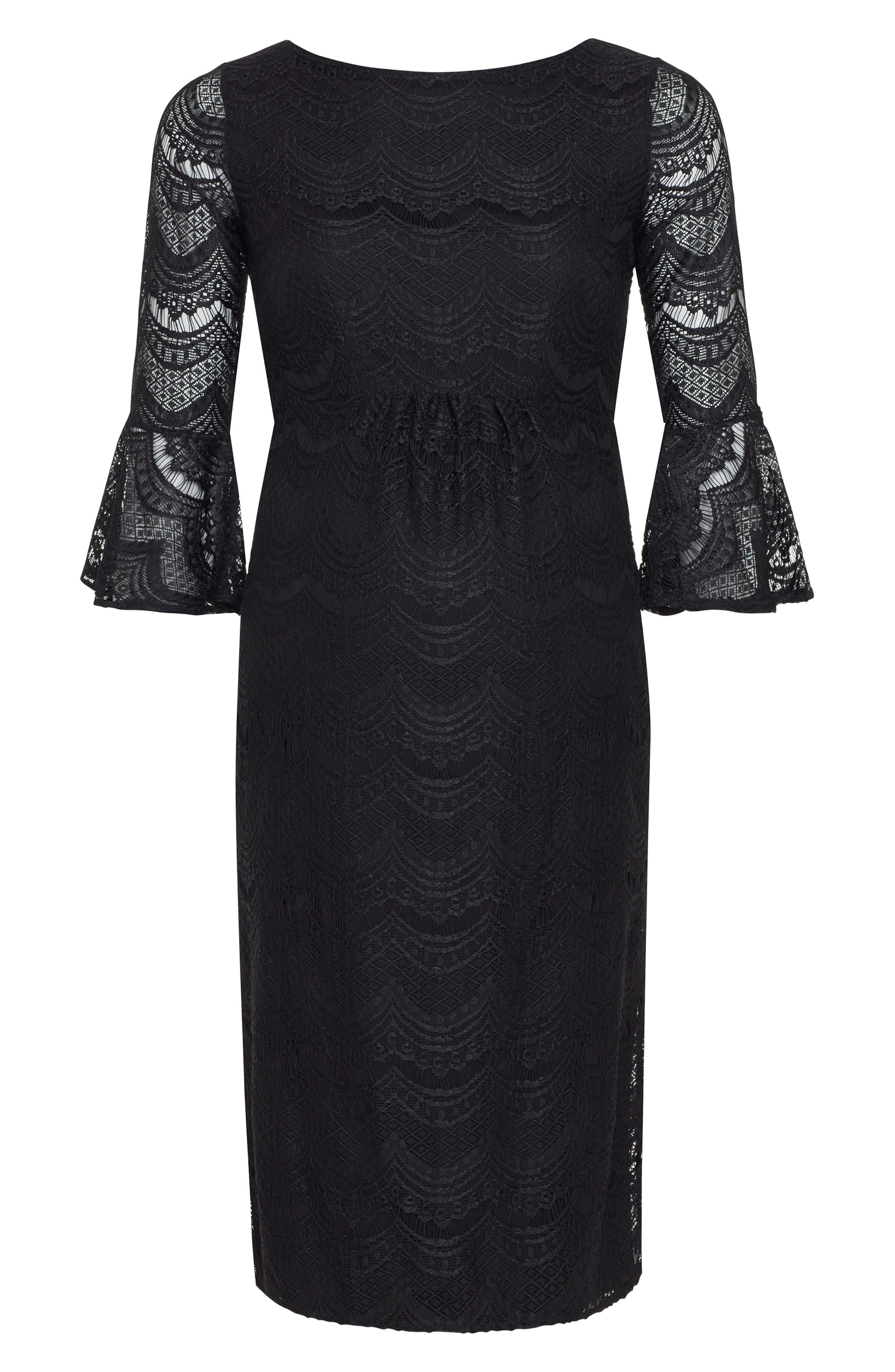 TIFFANY ROSE,                             Jane Lace Maternity Dress,                             Alternate thumbnail 4, color,                             BLACK
