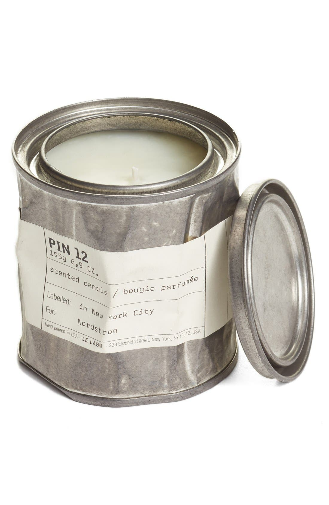 LE LABO 'Pin 12' Vintage Candle Tin, Main, color, NO COLOR