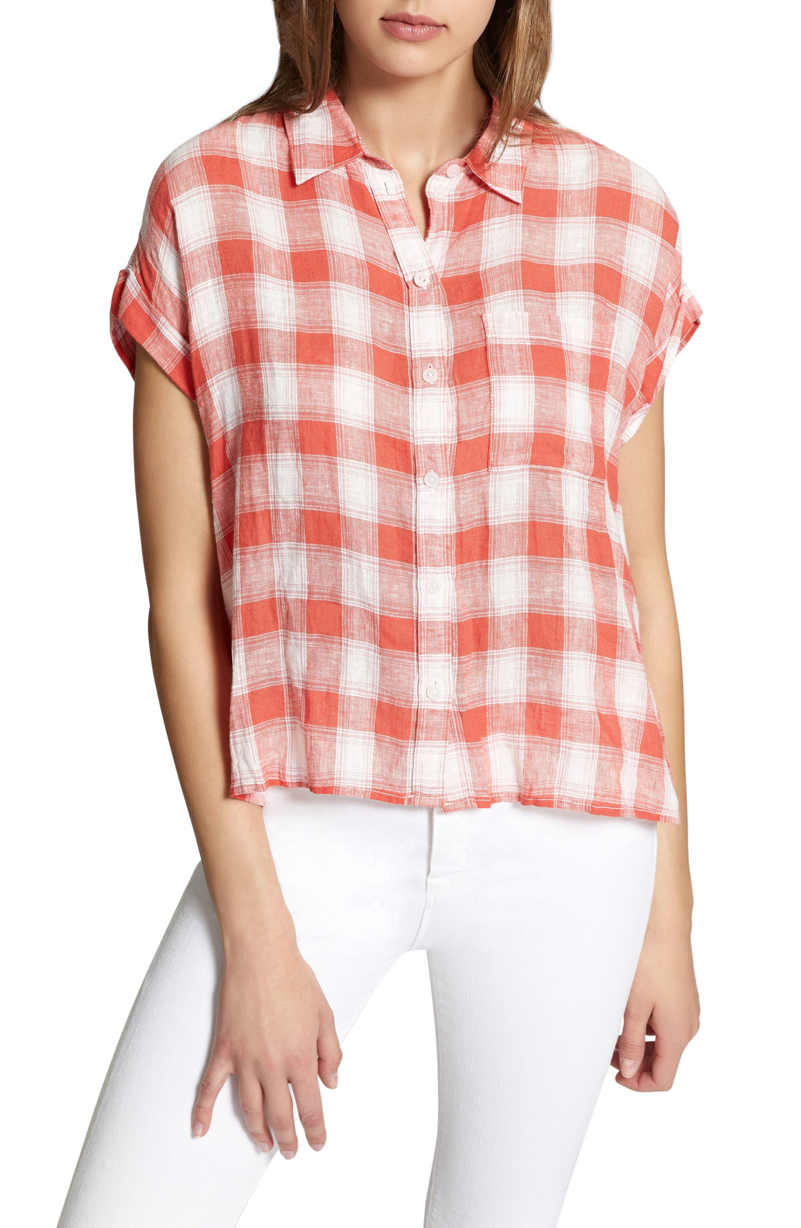 Mod Short Sleeve Boyfriend Shirt,                             Main thumbnail 7, color,