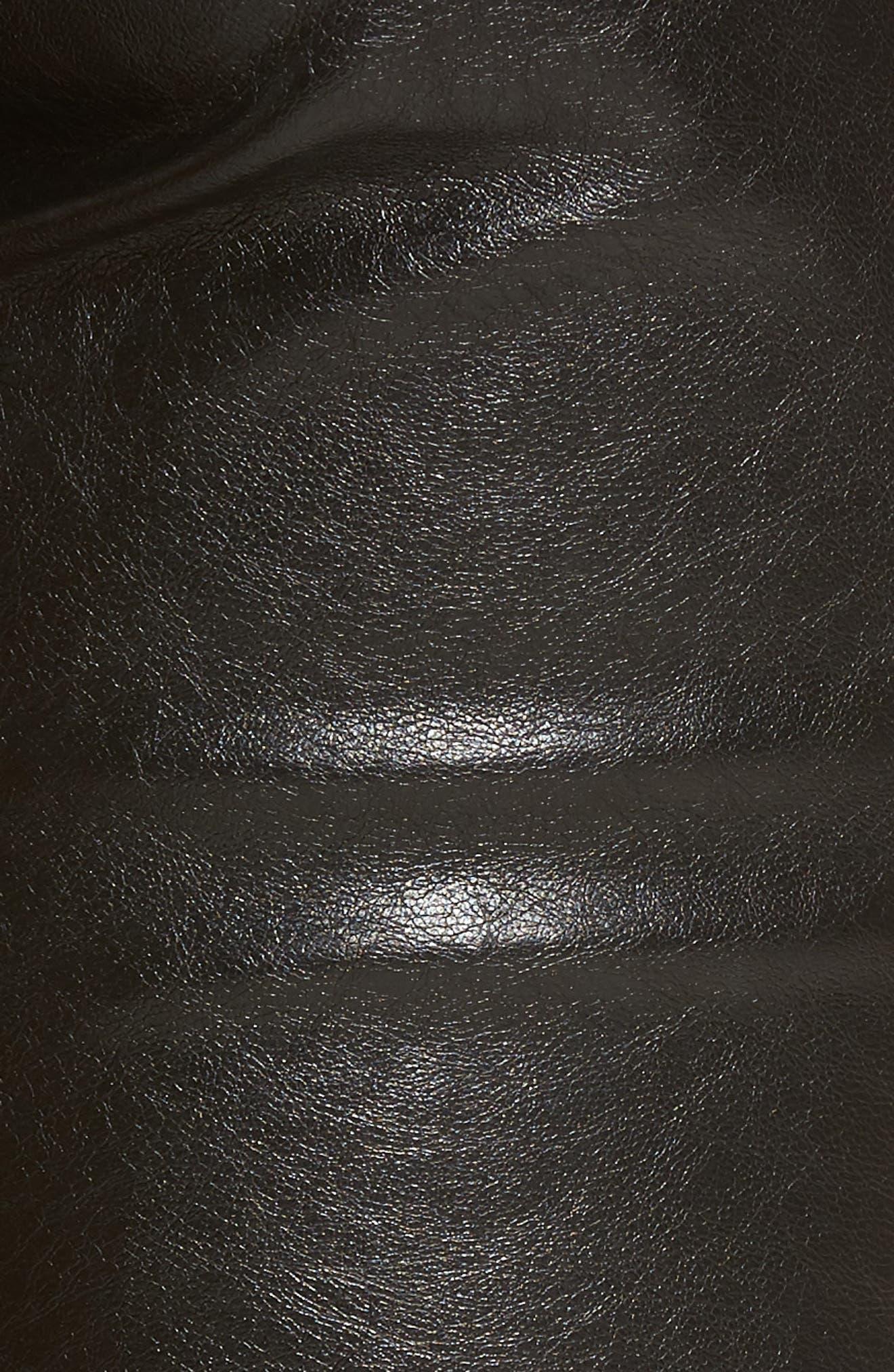 Skinny Classique Faux Leather Jeans,                             Alternate thumbnail 5, color,                             001
