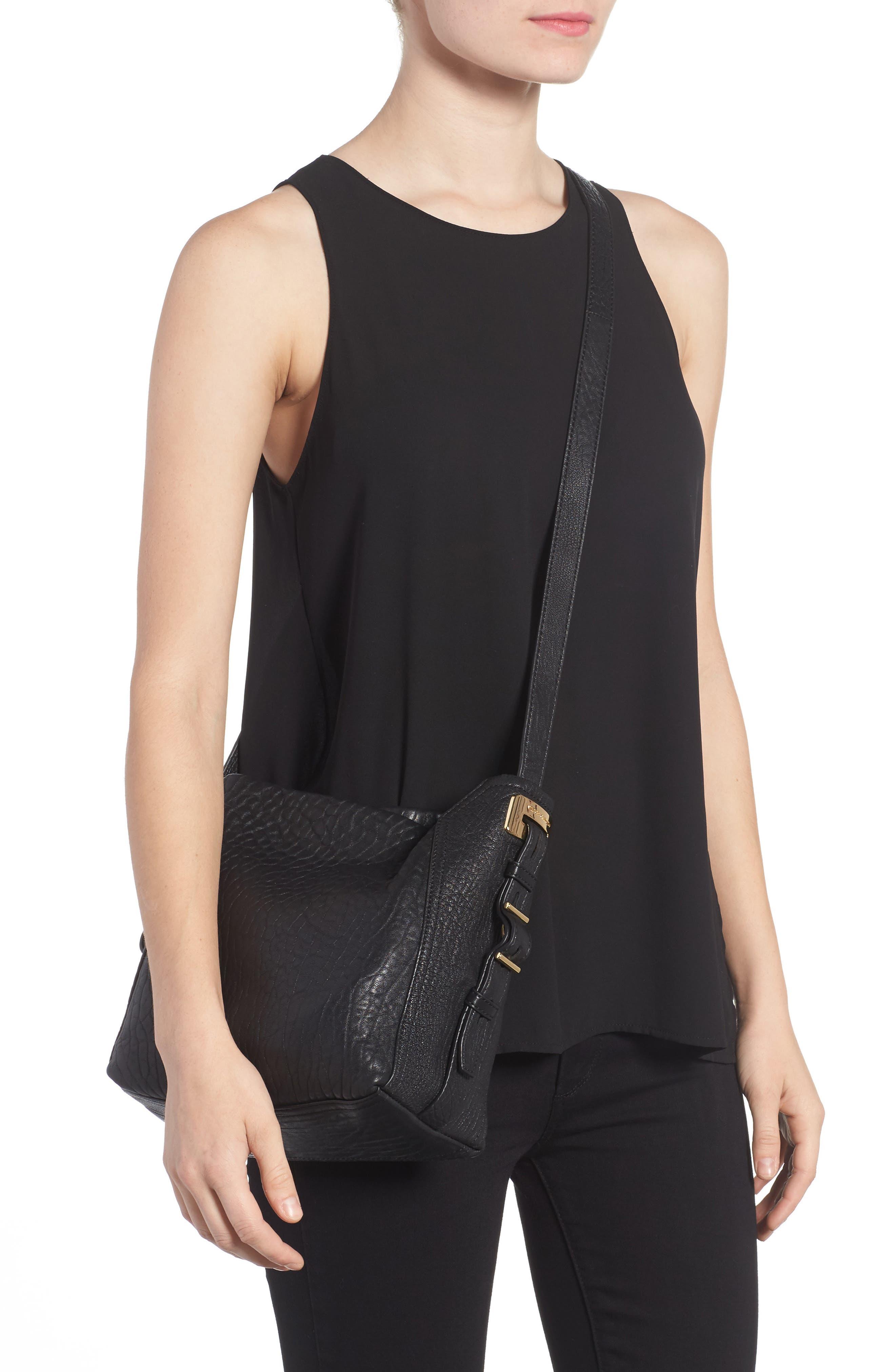 Fava Leather Bucket Bag,                             Alternate thumbnail 2, color,                             001