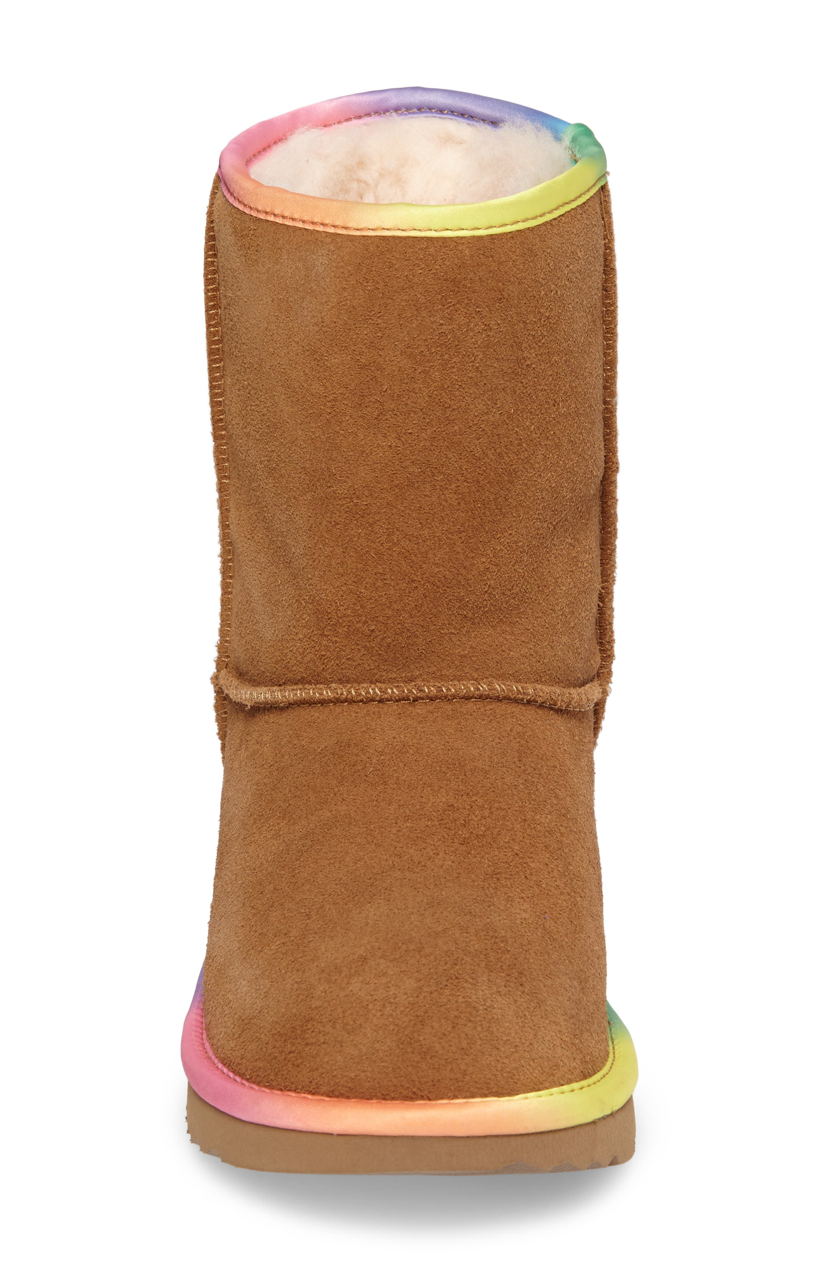 Classic Short II Water-Resistant Genuine Shearling Rainbow Boot,                             Alternate thumbnail 7, color,