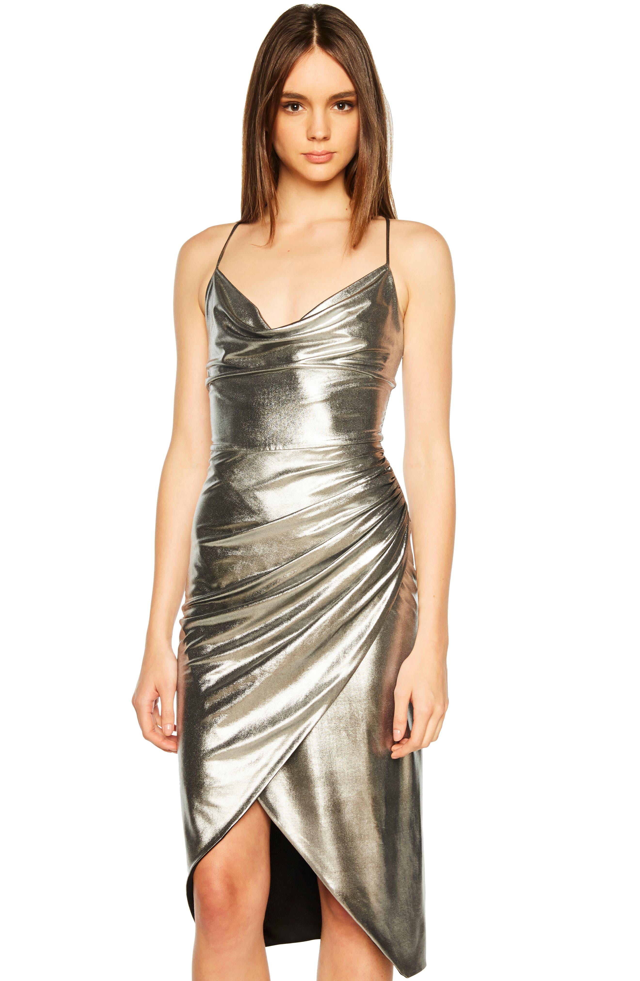 Runway Dress,                             Alternate thumbnail 8, color,                             SILVER