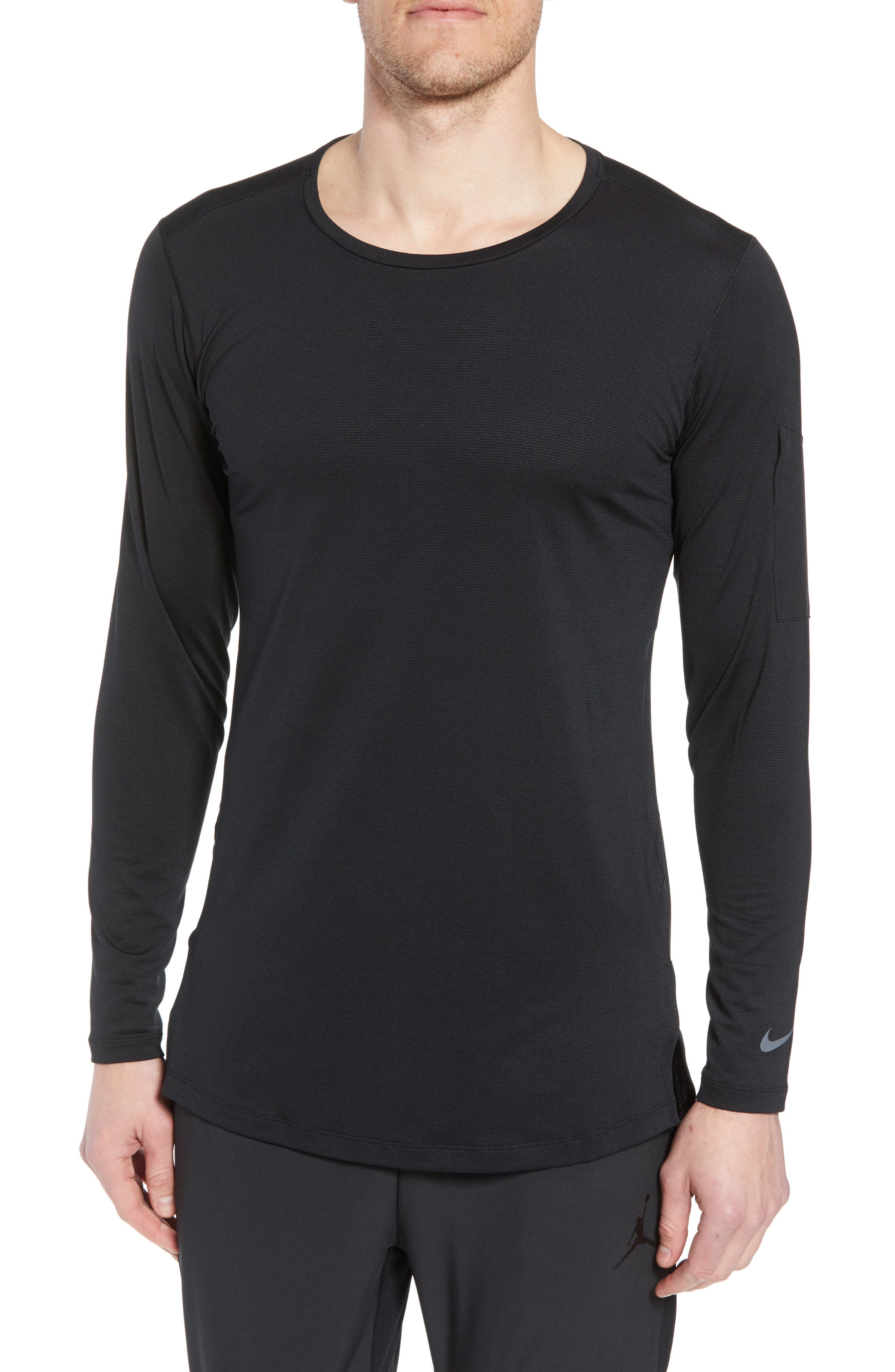 Pro Utility Fitted Training Top,                         Main,                         color, BLACK/ BLACK