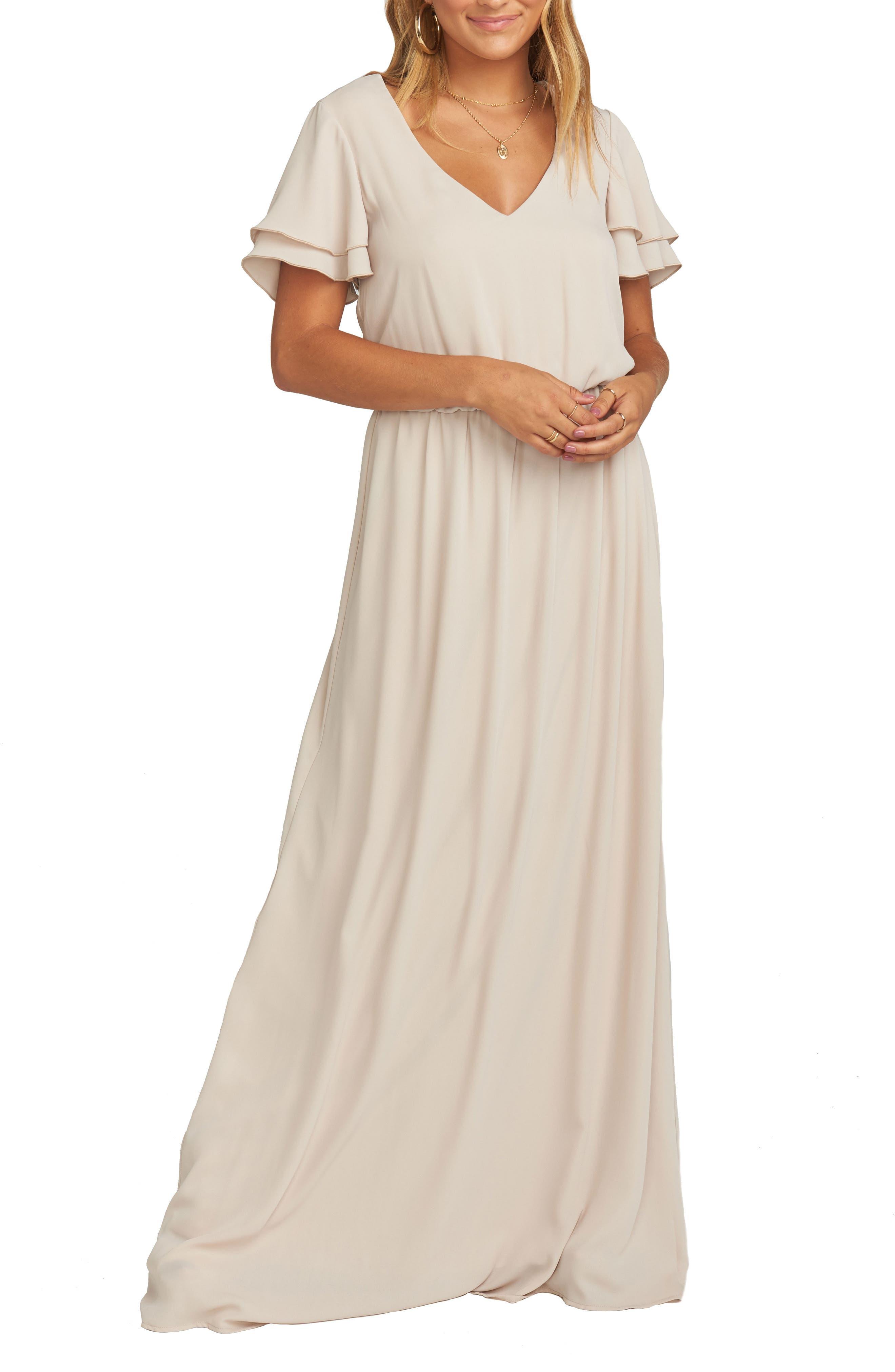 Show Me Your Mumu Michelle Maxi Dress, Beige