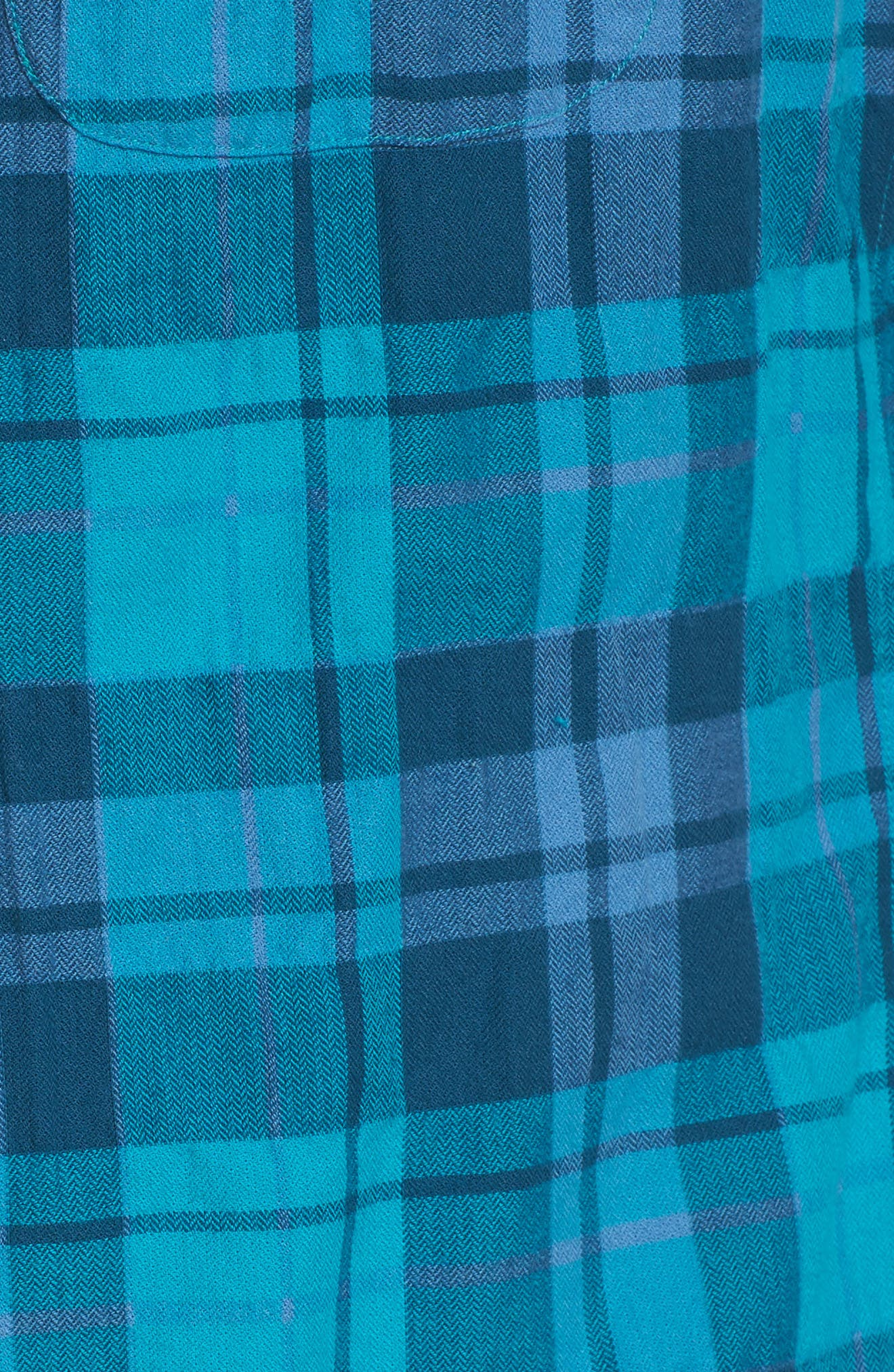 Riveria Slim Fit Check Woven Shirt,                             Alternate thumbnail 5, color,