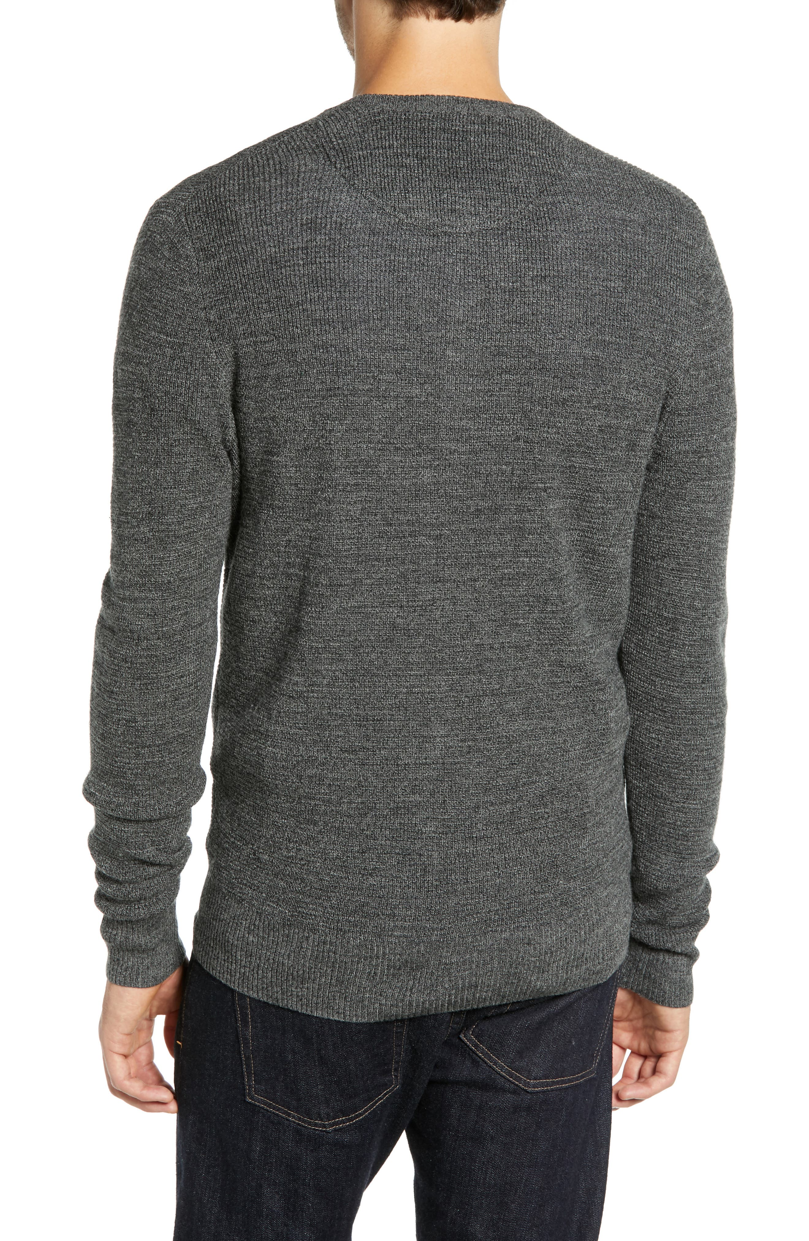 Merino Wool Blend Thermal Henley,                             Alternate thumbnail 2, color,                             GREY PHANTOM