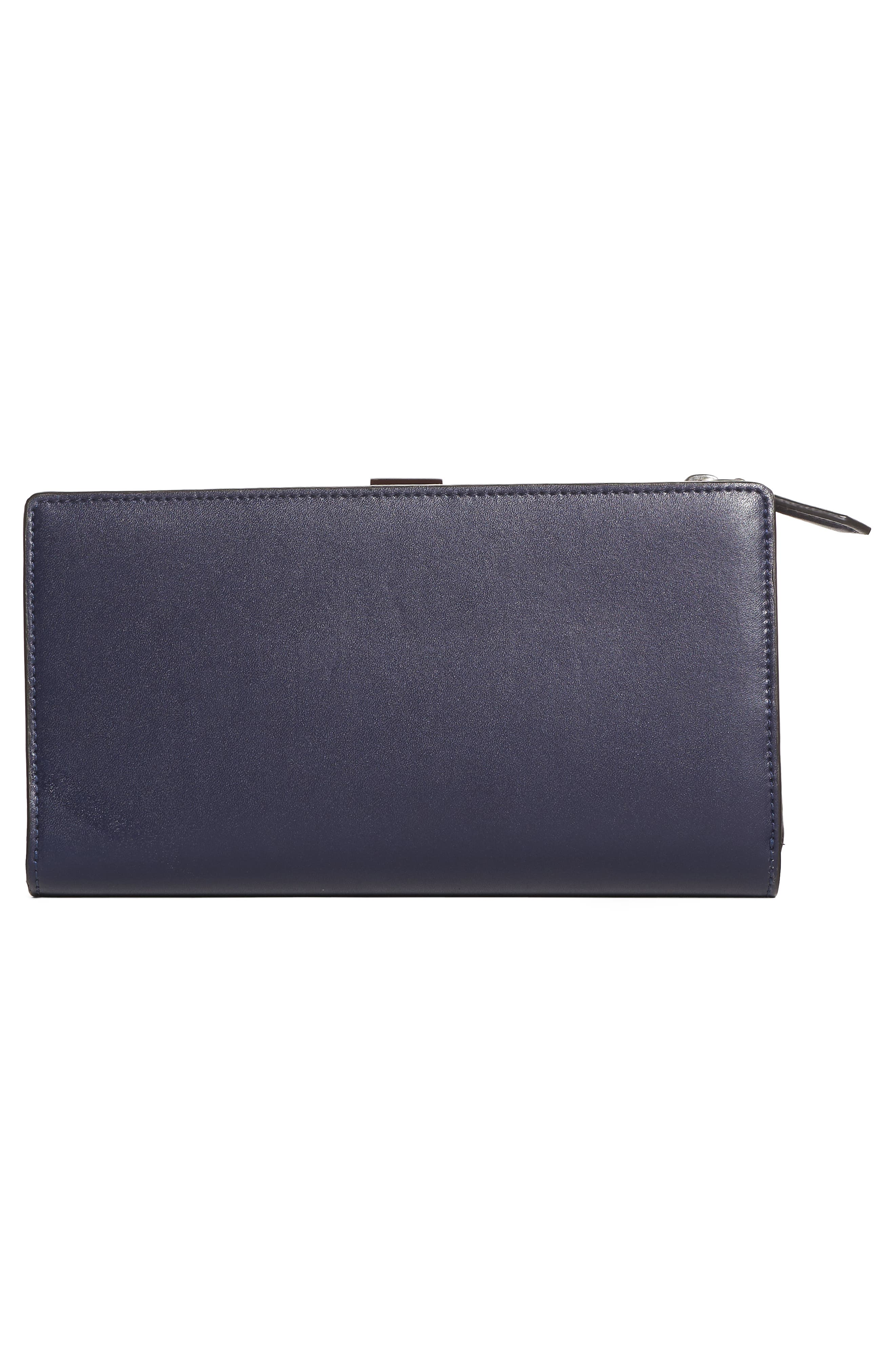 Studded Continental Leather Wallet,                             Alternate thumbnail 4, color,                             426