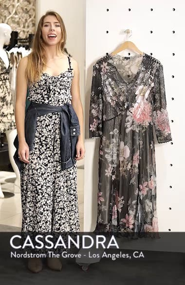 Kamarov Floral Charmeuse & Chiffon Floral A-Line Dress, sales video thumbnail