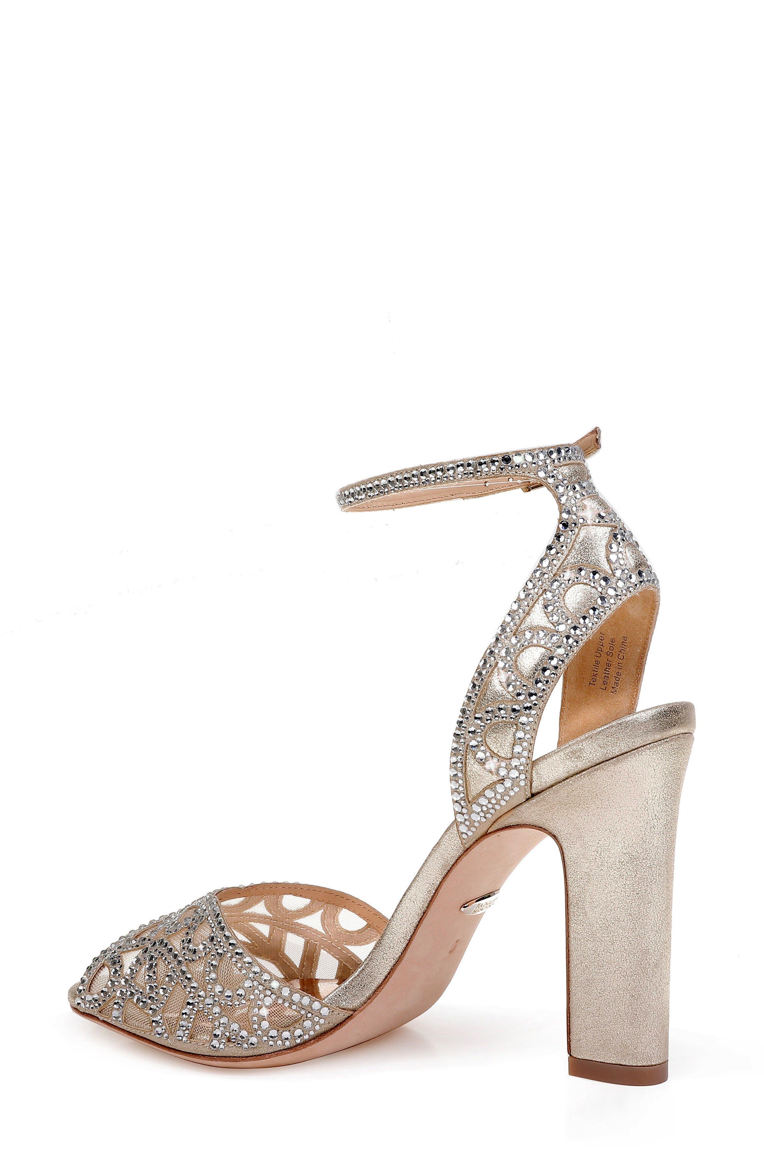 Badgley Mischka Hart Crystal Embellished Sandal,                             Alternate thumbnail 2, color,                             040