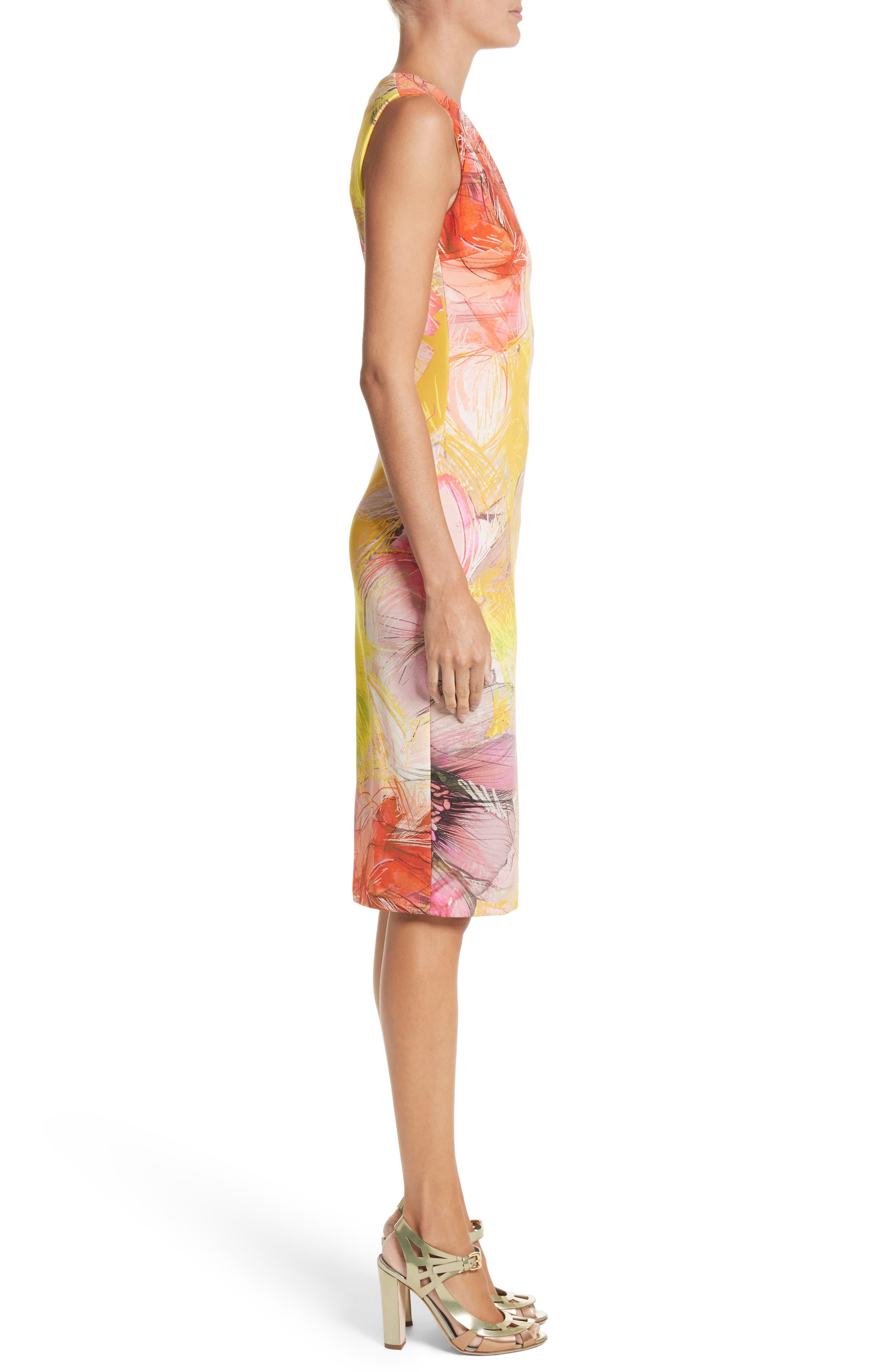 Print Sheath Dress,                             Alternate thumbnail 6, color,