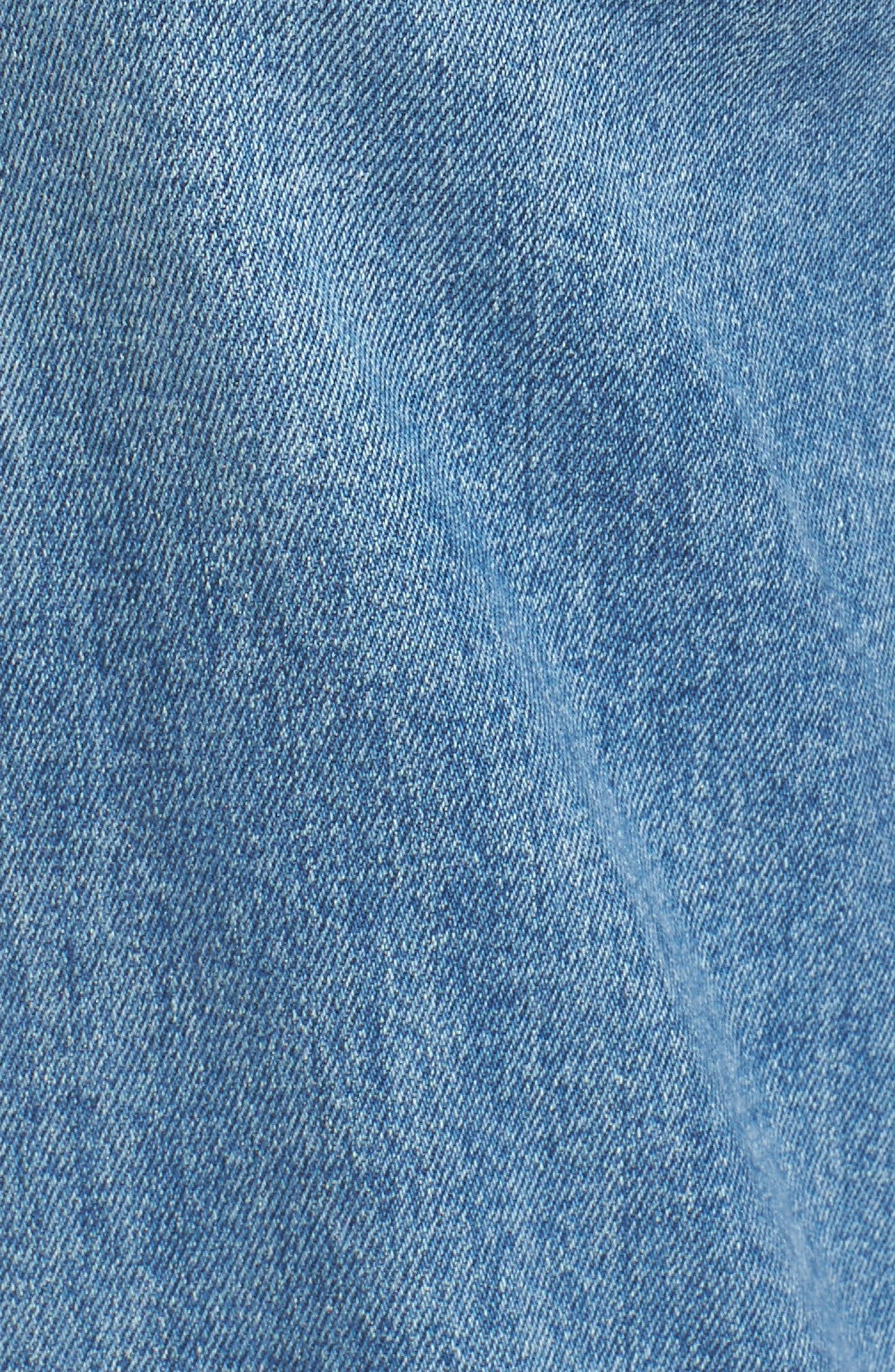 Vintage - Sarah High Waist Crop Straight Leg Jeans,                             Alternate thumbnail 6, color,                             400