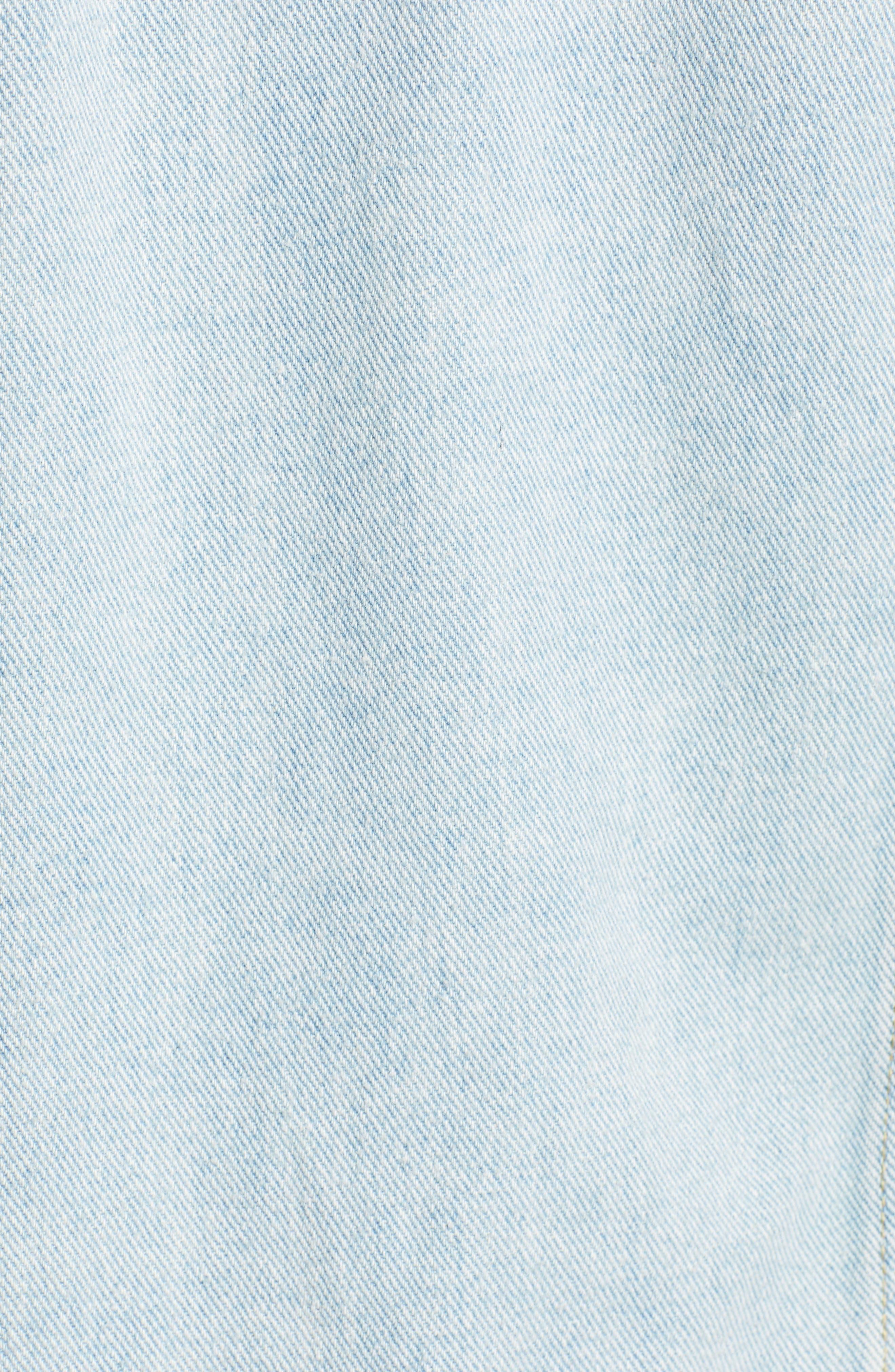 KENDALL + KYLIE,                             Hooded Denim Jacket,                             Alternate thumbnail 7, color,                             LIGHT DESTROY
