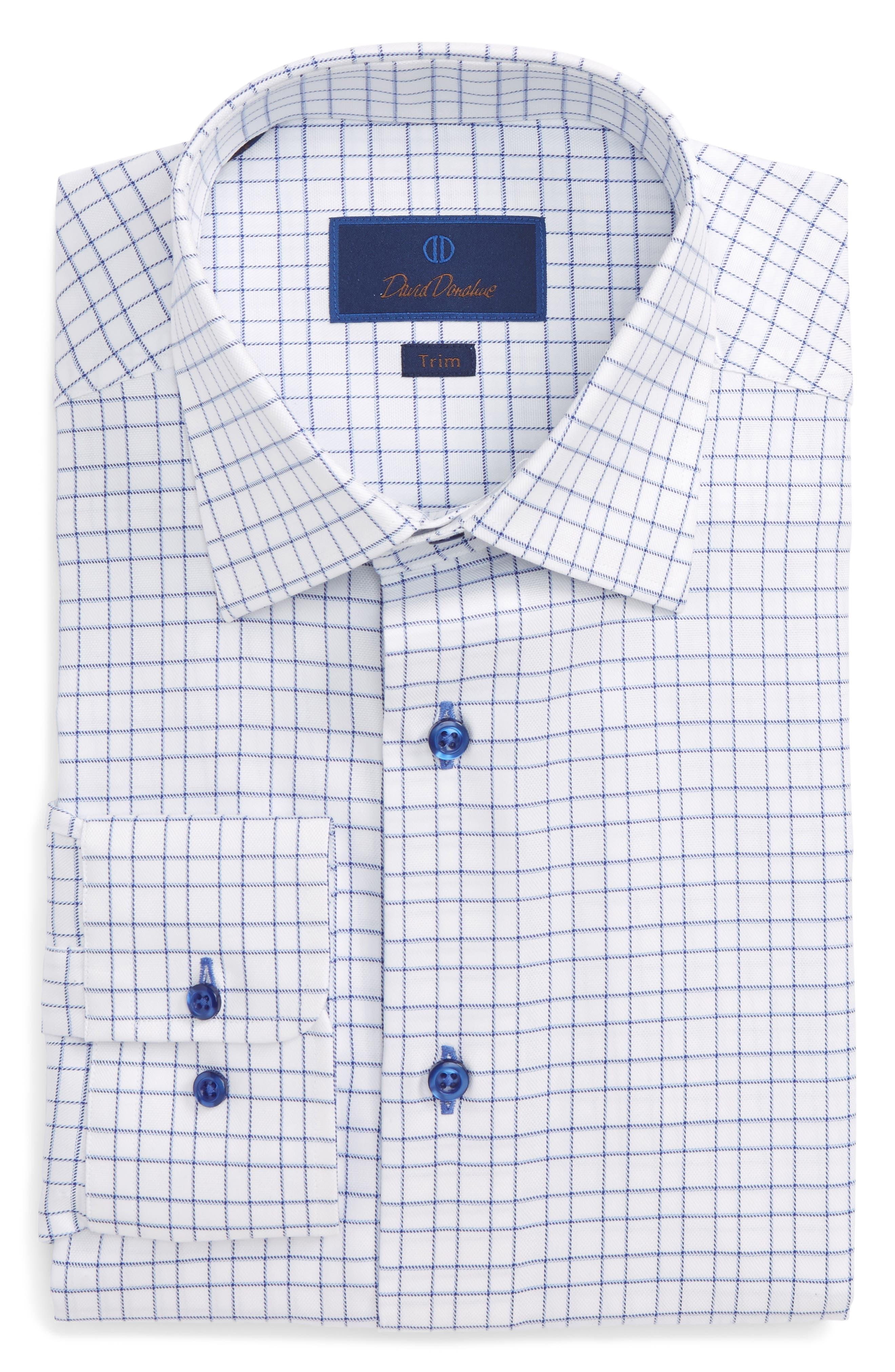 Trim Fit Check Dress Shirt,                             Main thumbnail 1, color,                             423