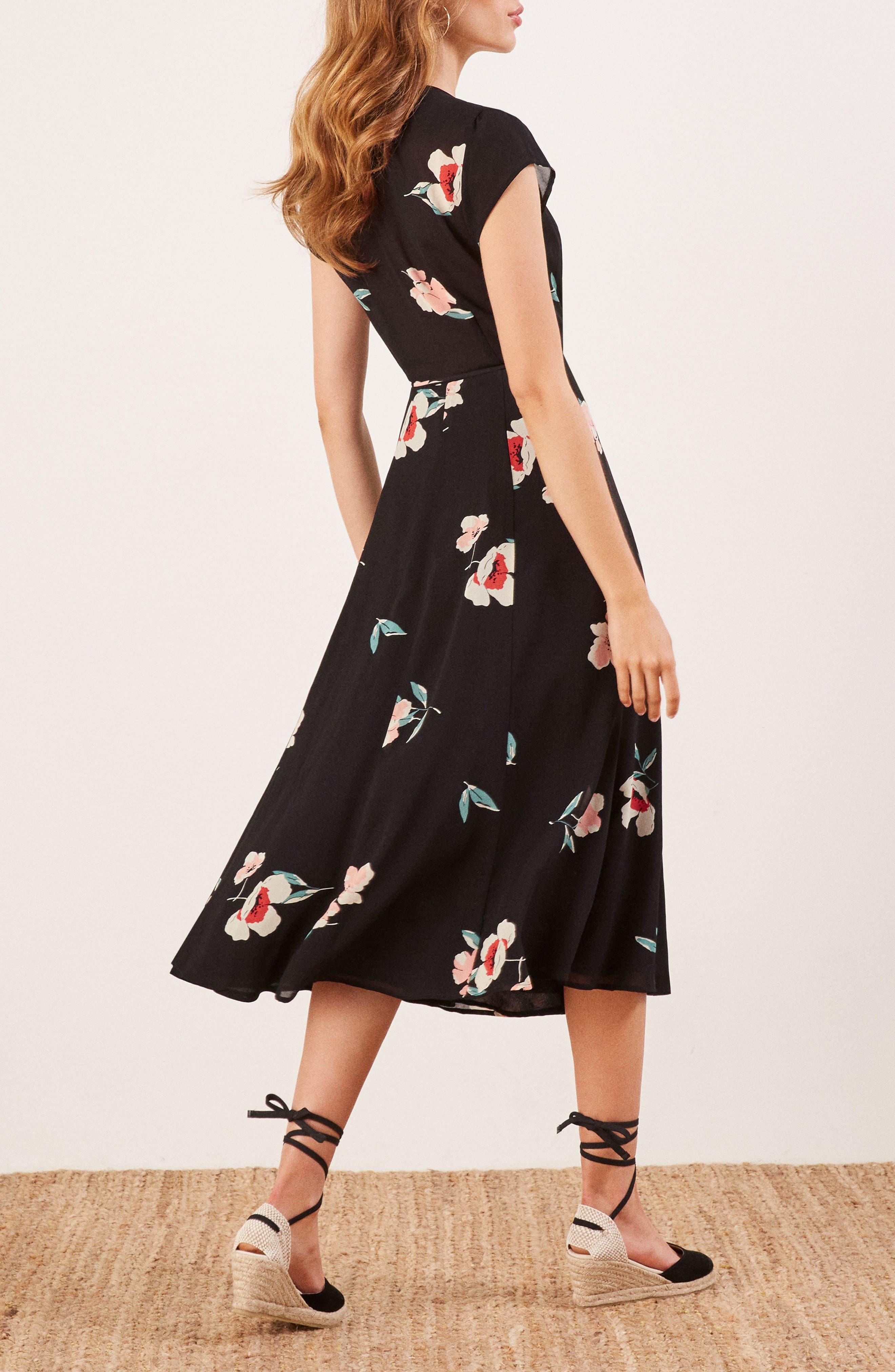 Carina Midi Wrap Dress,                             Alternate thumbnail 3, color,                             ORNAMENT