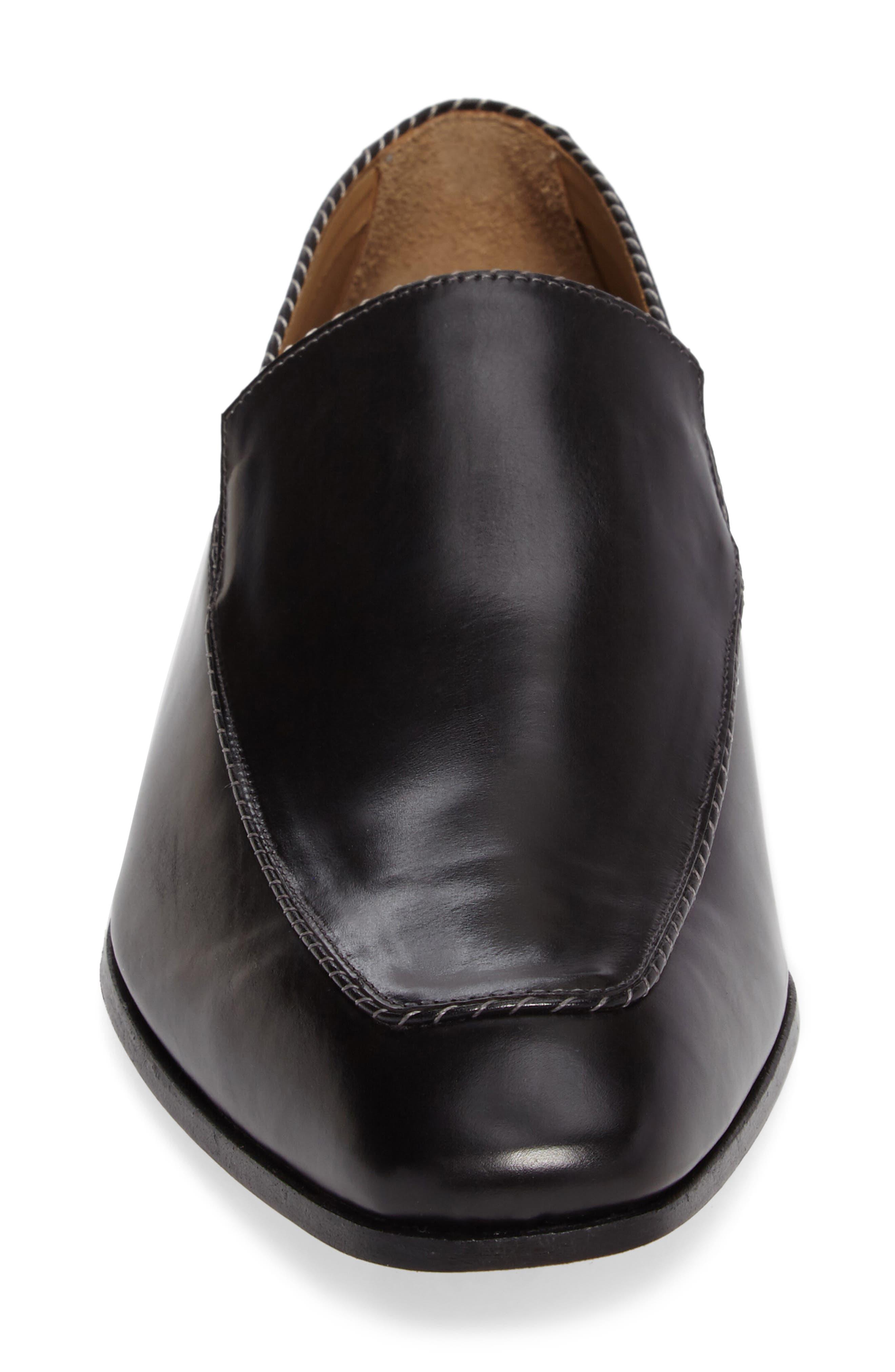 Brandt Venetian Loafer,                             Alternate thumbnail 4, color,                             BLACK LEATHER