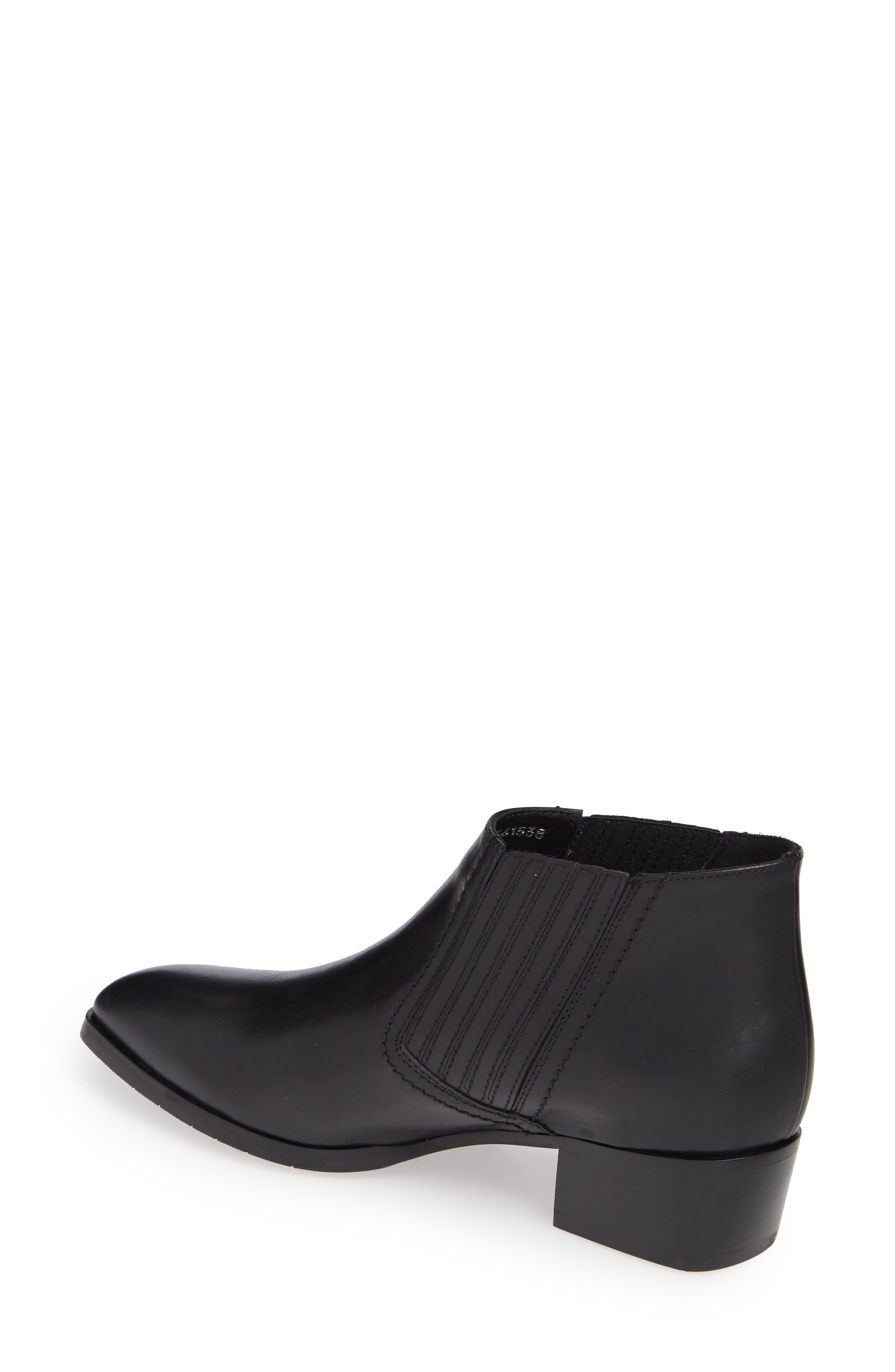 AQUATALIA,                             Fiore Studded Chelsea Bootie,                             Alternate thumbnail 2, color,                             BLACK LEATHER