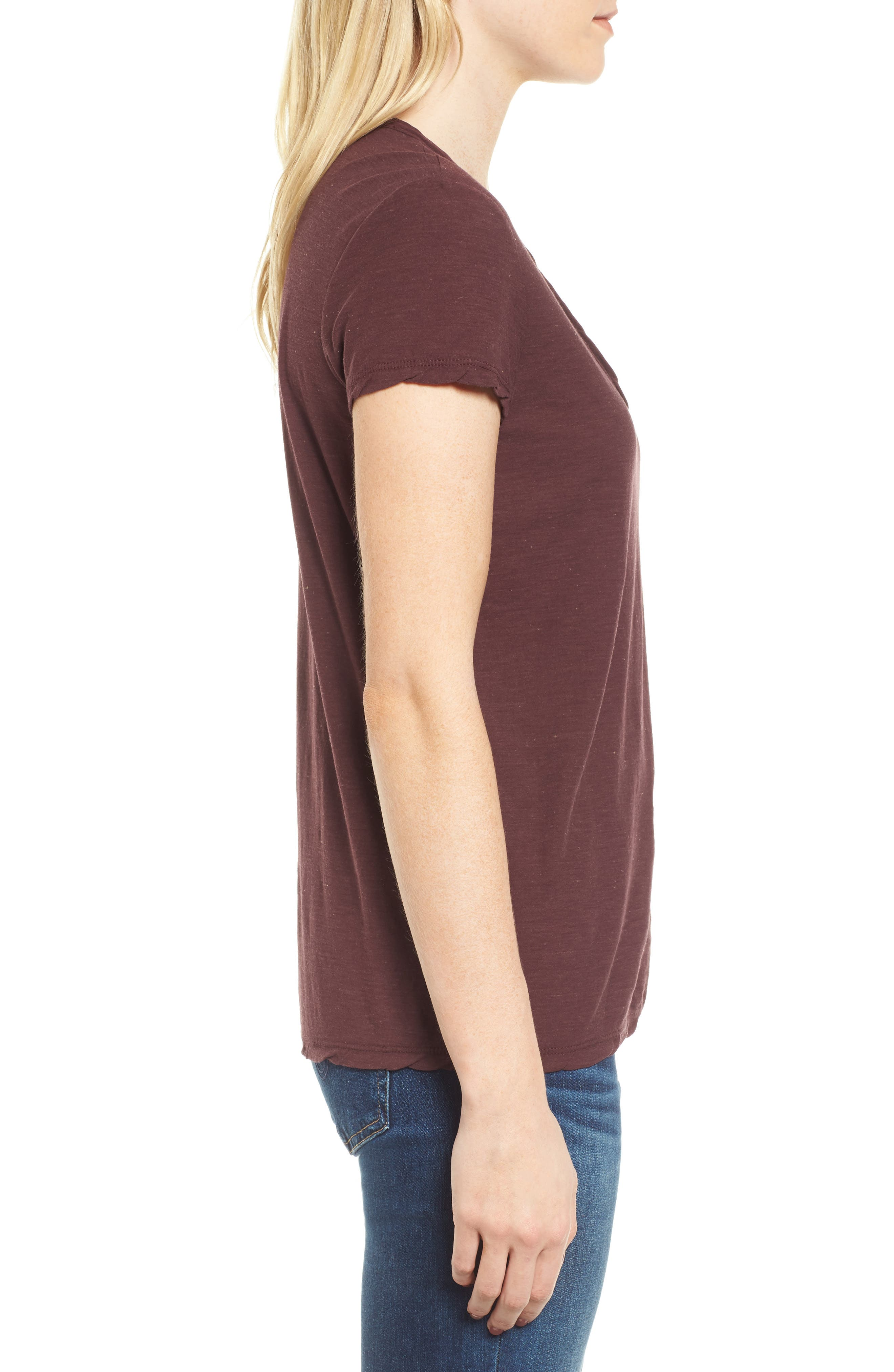 Deep V-Neck Tee,                             Alternate thumbnail 9, color,