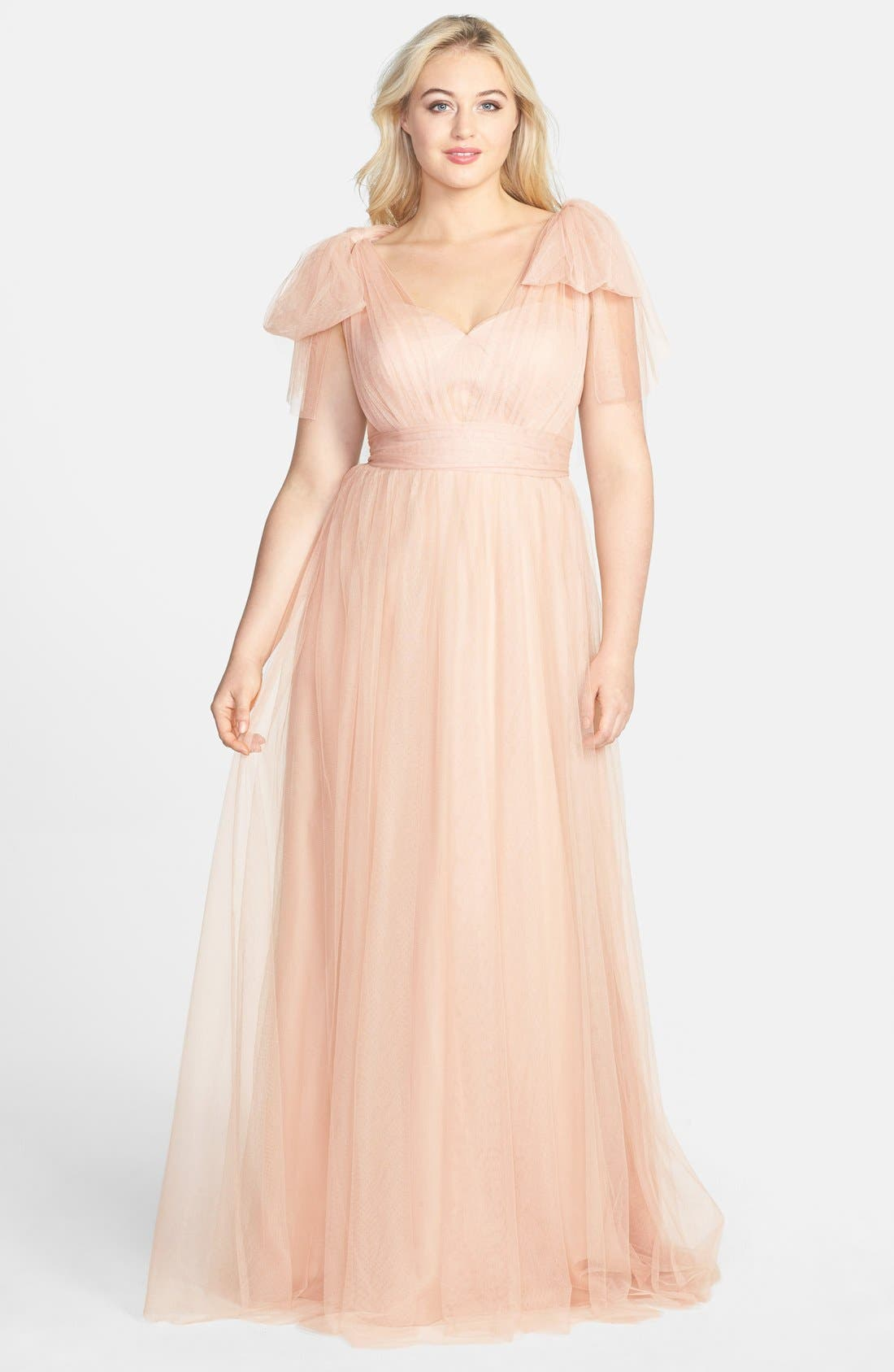 Annabelle Convertible Tulle Column Dress,                             Alternate thumbnail 187, color,