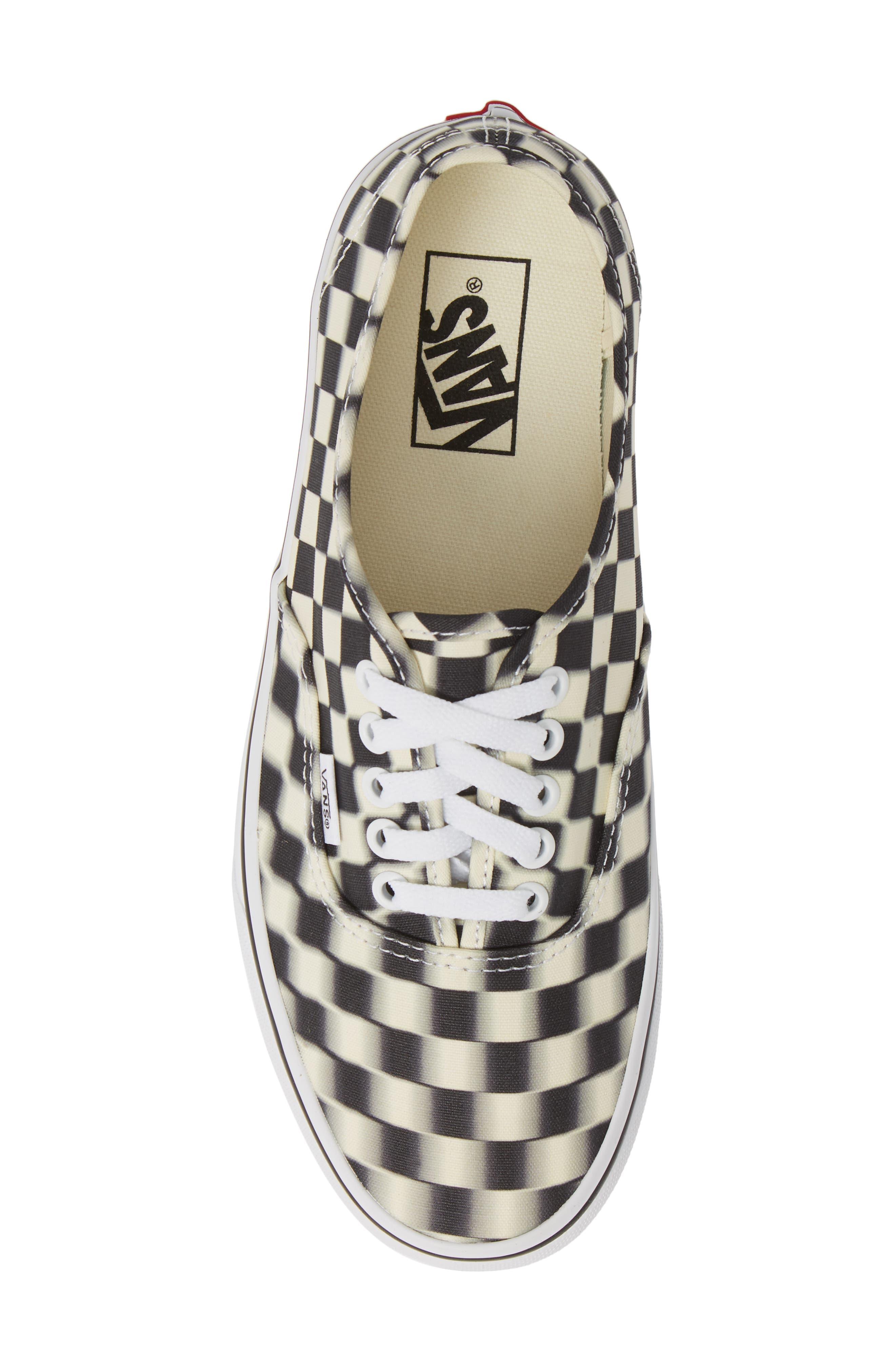 VANS,                             UA Authentic Sneaker,                             Alternate thumbnail 5, color,                             BLACK/ CLASSIC WHITE CHECK
